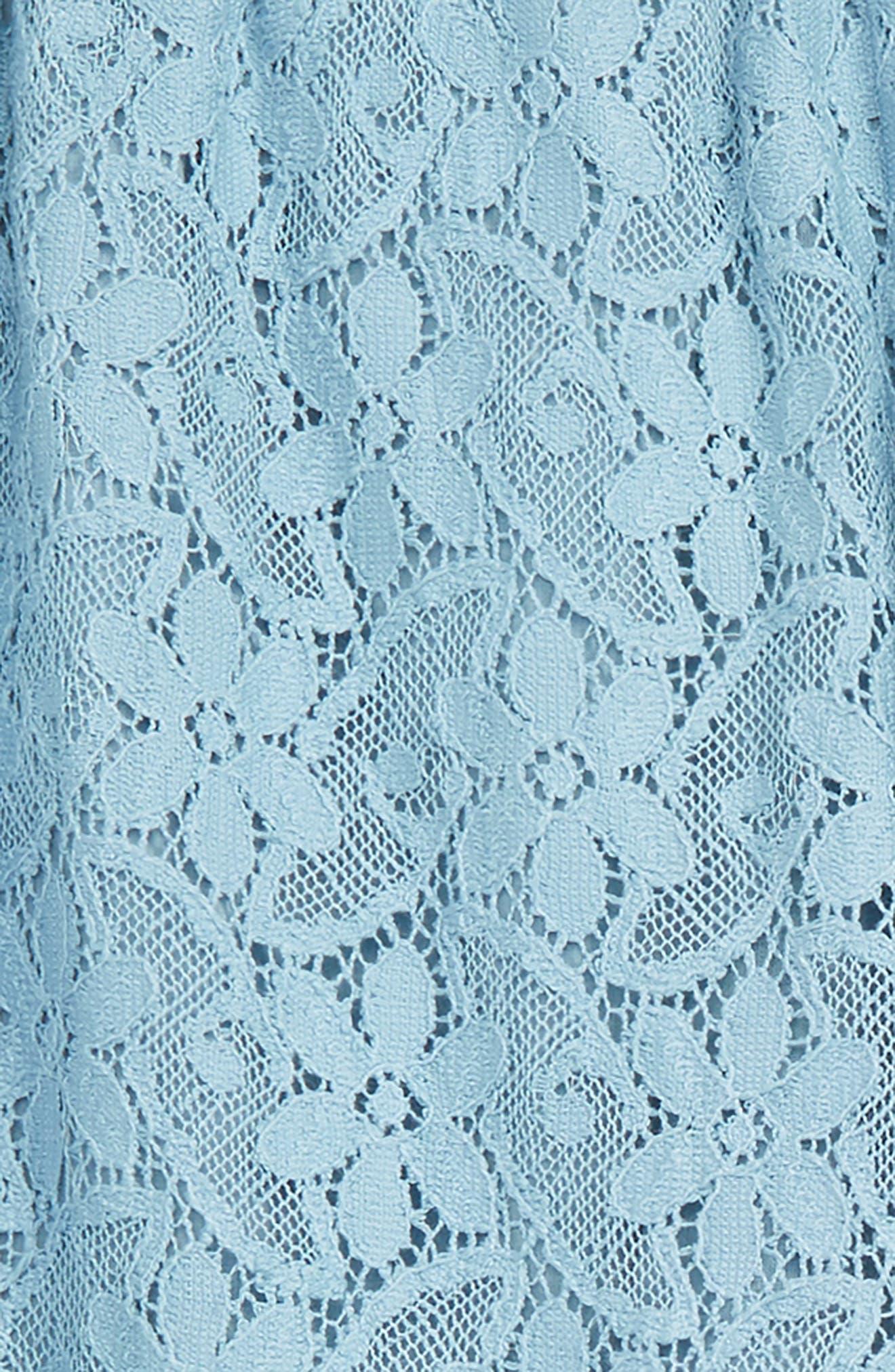 GUCCI,                             Lace Jogger Pants,                             Alternate thumbnail 2, color,                             SEA CLEAR BLUE