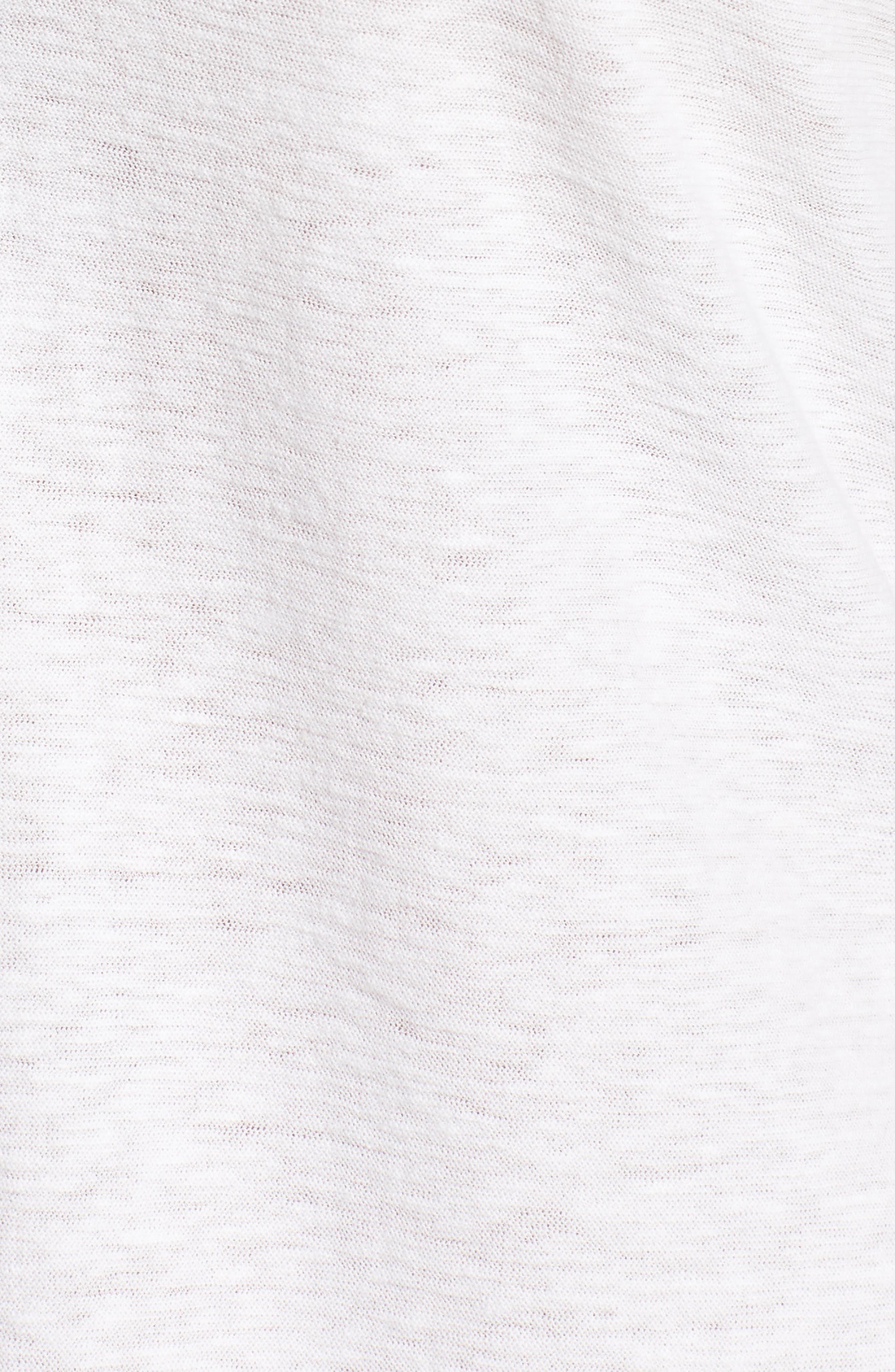 Cotton & Linen Button Front Tee,                             Alternate thumbnail 10, color,