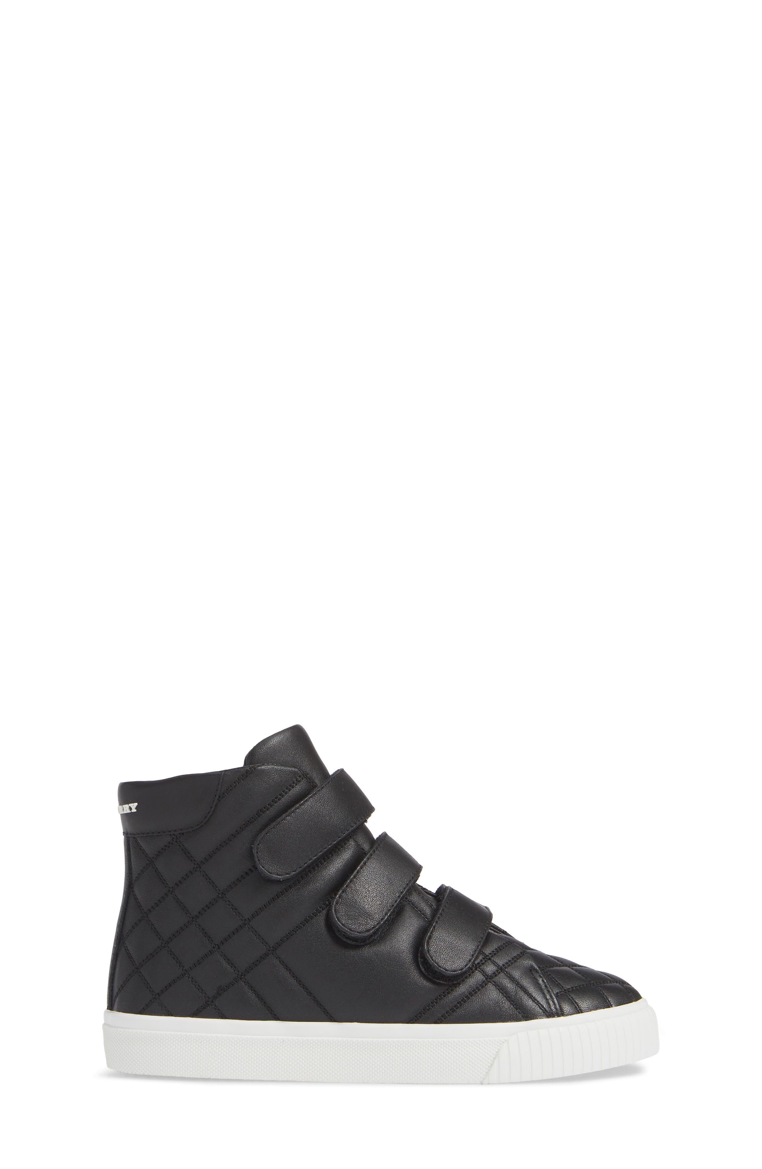 Sturrock Hi Top Sneaker,                             Alternate thumbnail 3, color,                             BLACK
