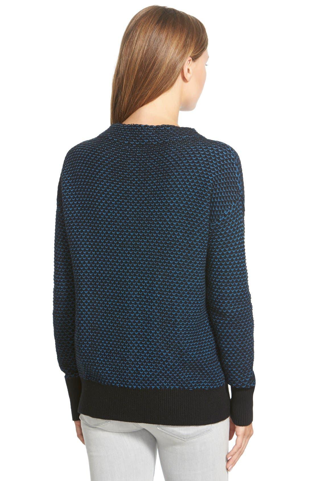 Funnel Neck Sweater,                             Alternate thumbnail 2, color,                             001