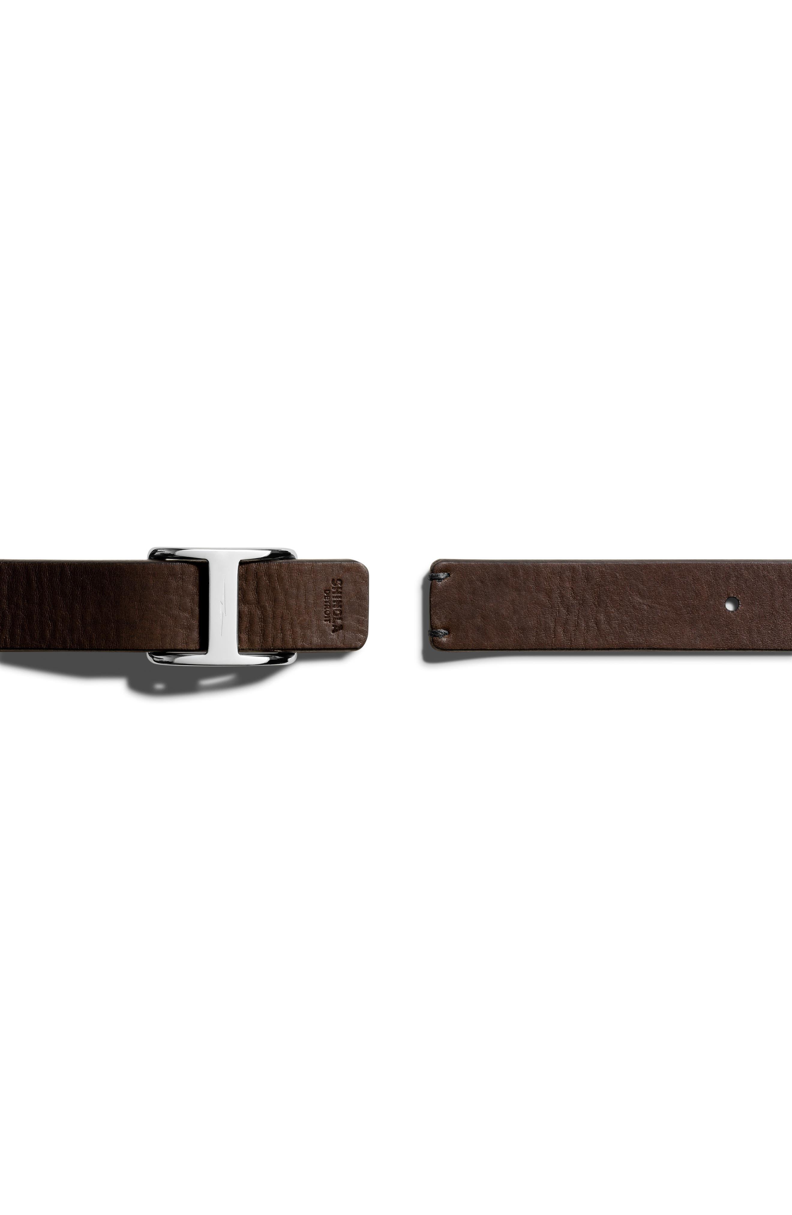 Reversible Leather Belt,                             Alternate thumbnail 2, color,                             002