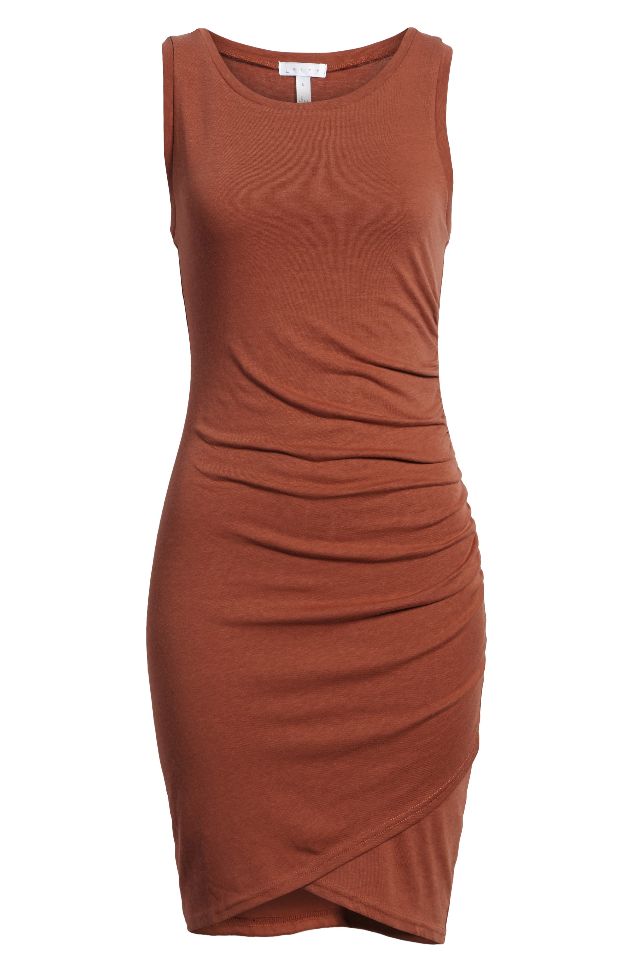 Ruched Body-Con Tank Dress,                             Alternate thumbnail 165, color,