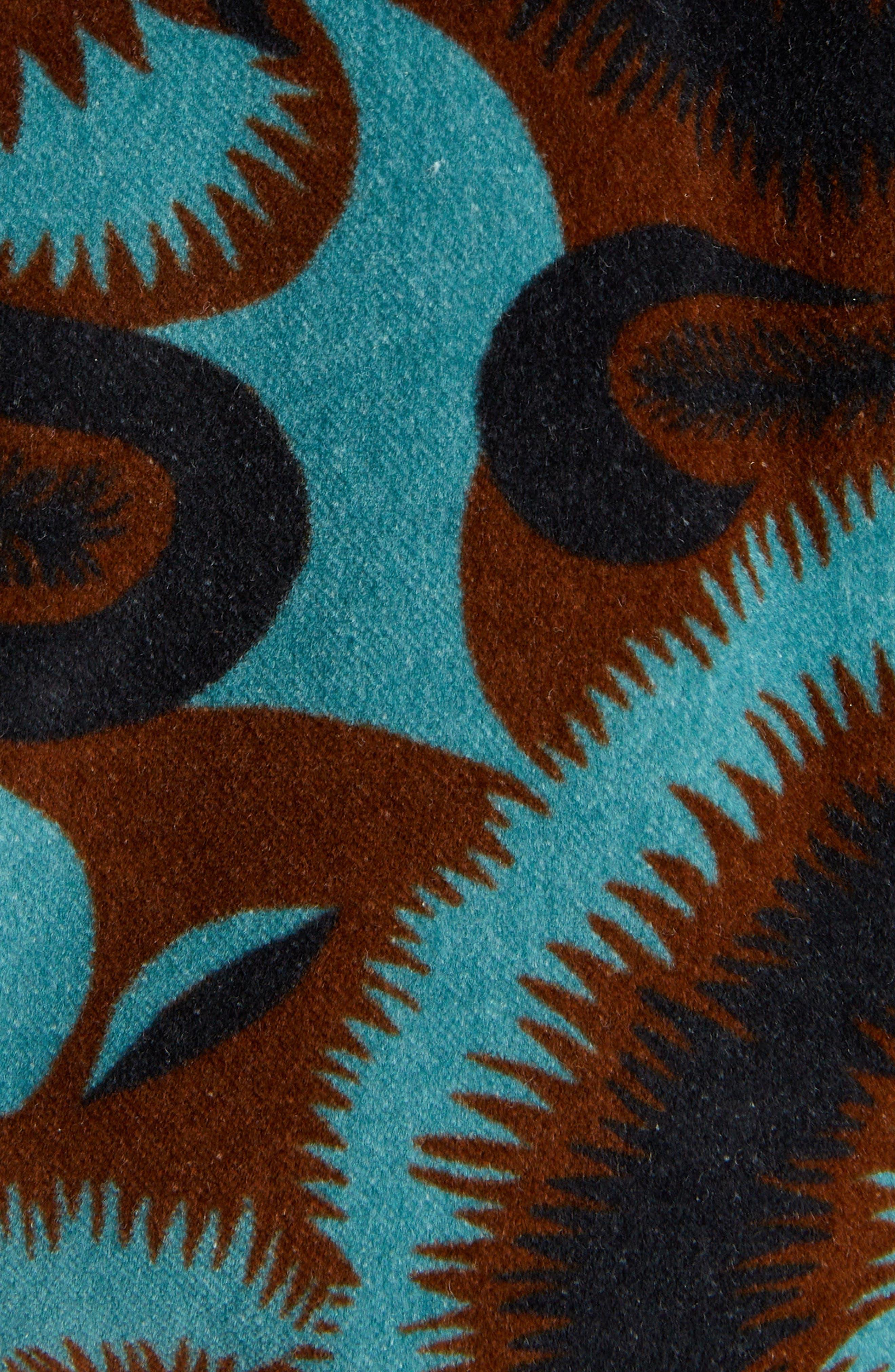 Floral Velvet Blazer,                             Alternate thumbnail 5, color,                             PETROL