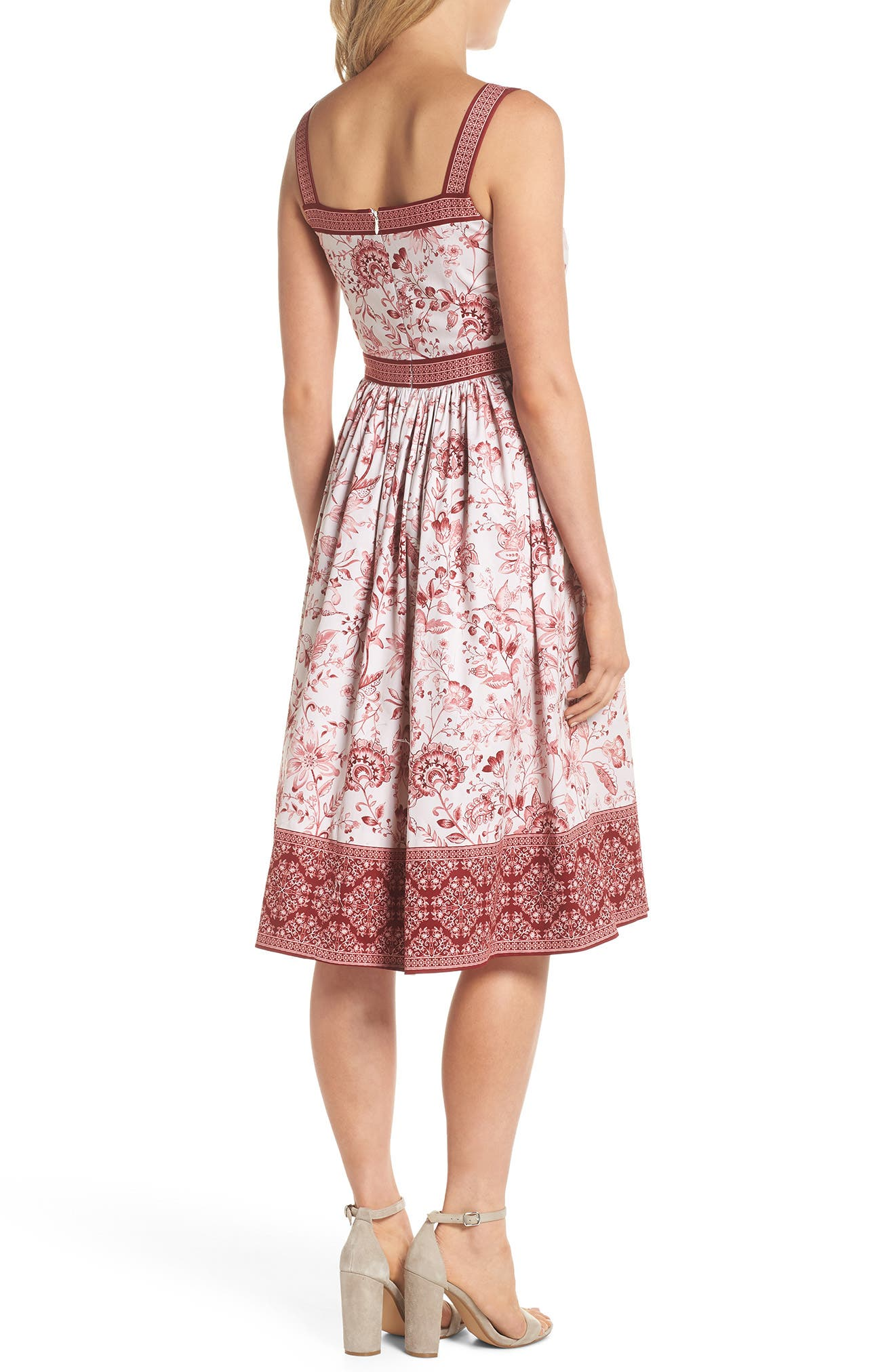 Esme Floral Fit & Flare Dress,                             Alternate thumbnail 2, color,                             690