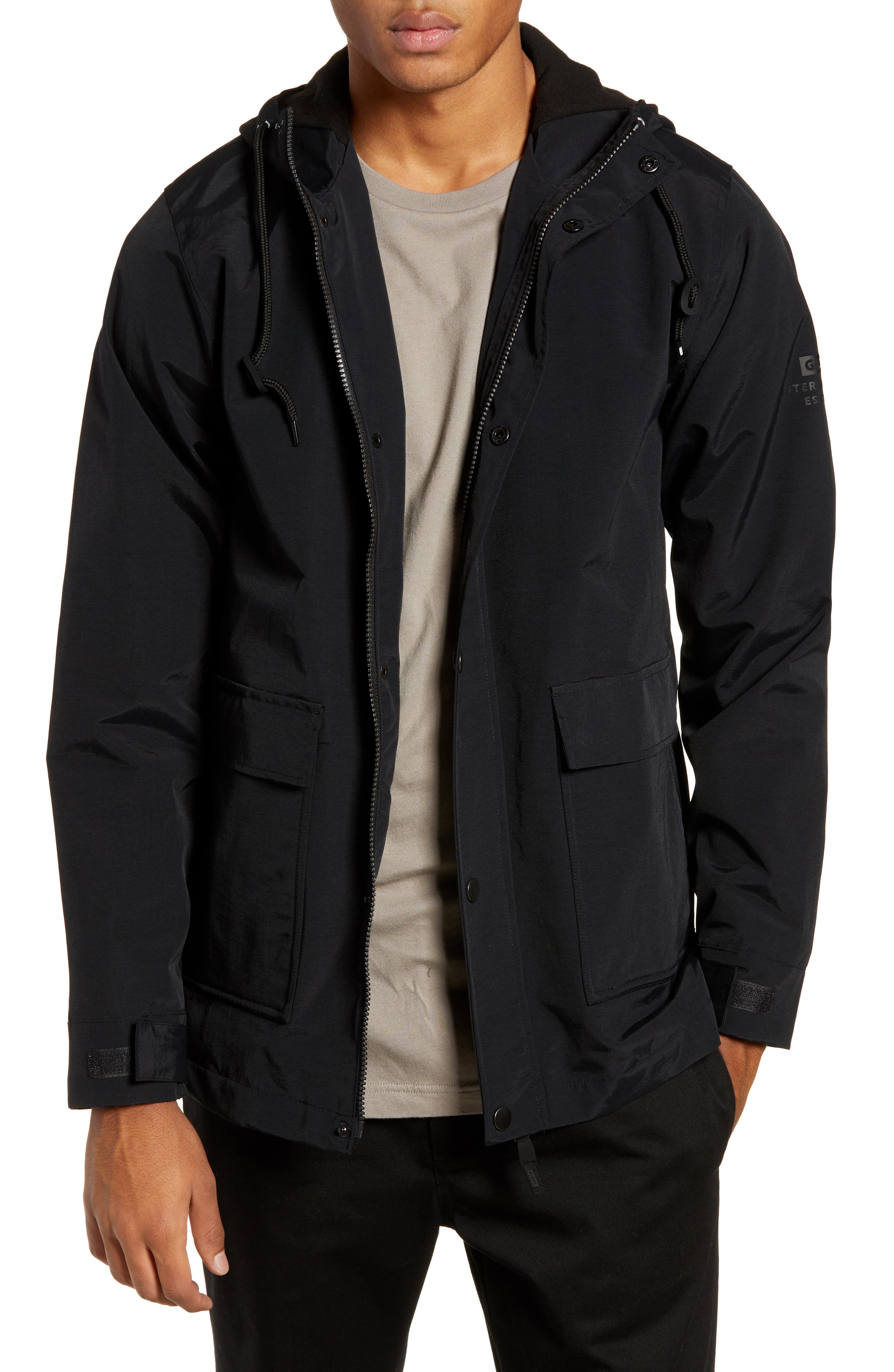 Goodstock Utility Jacket,                             Main thumbnail 1, color,                             BLACK
