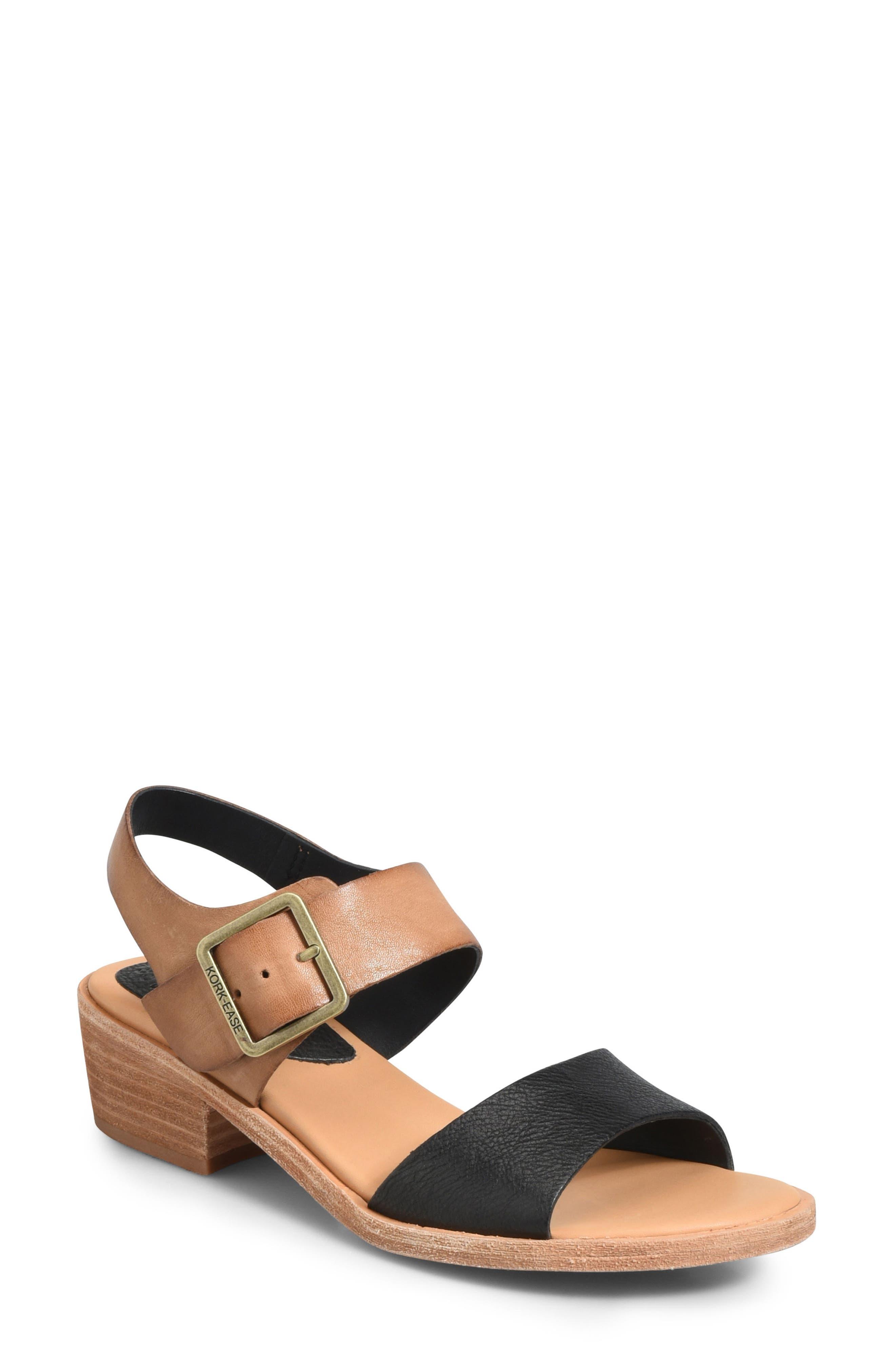 Myakka Sandal,                         Main,                         color, BLACK/ LIGHT BROWN LEATHER
