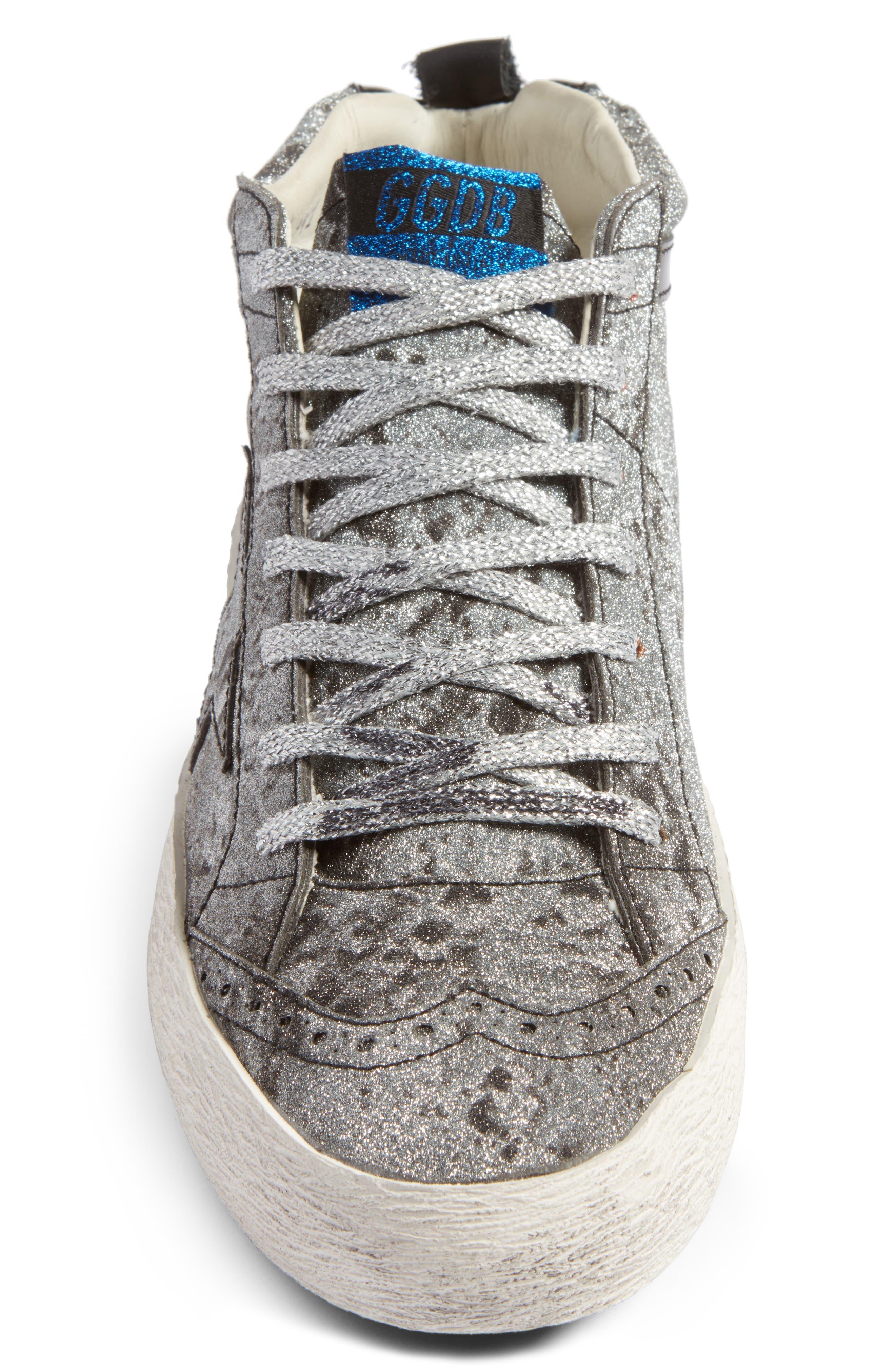 Mid Star Glitter Sneaker,                             Alternate thumbnail 4, color,                             040