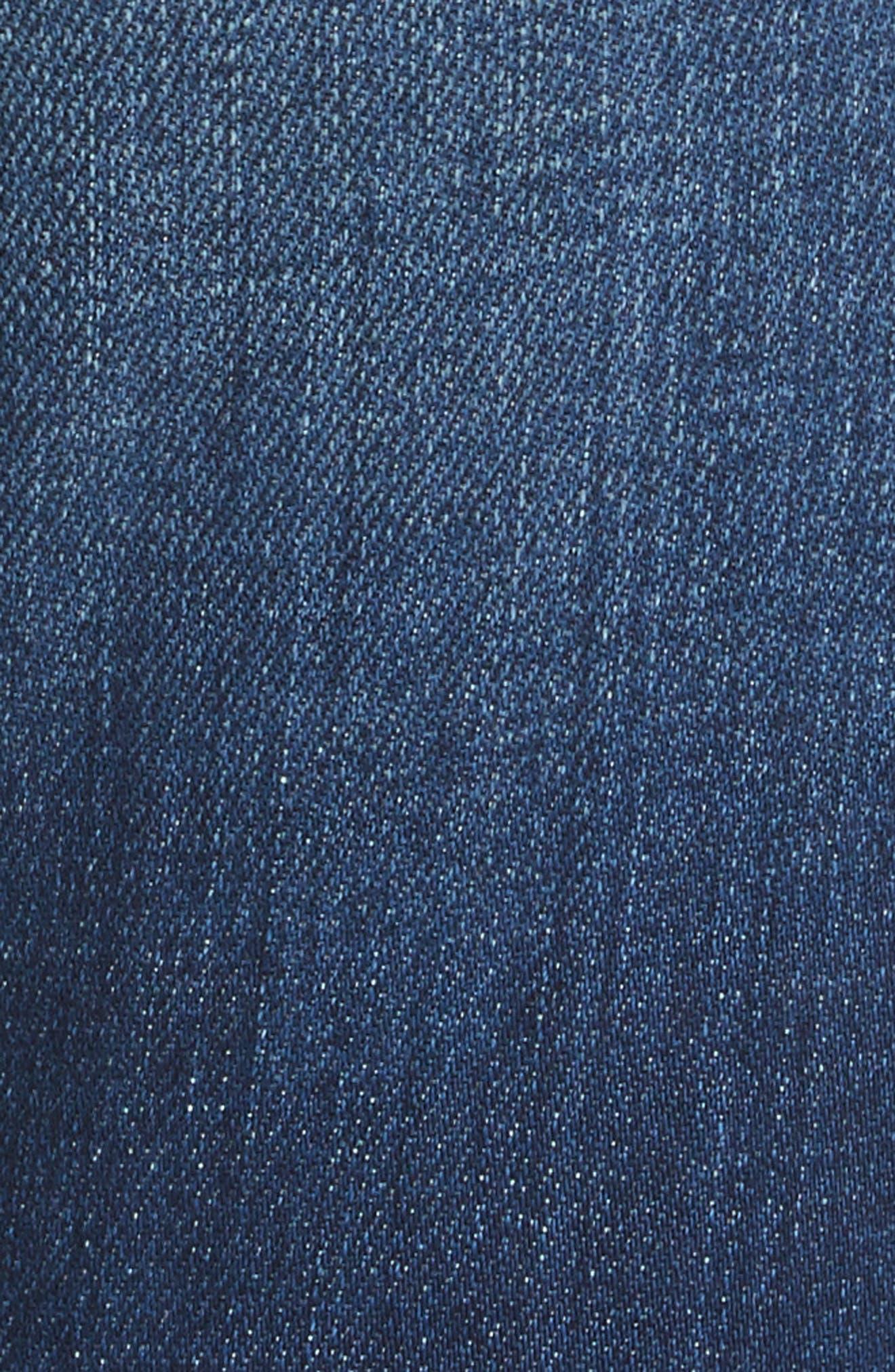 Rachel Ripped Crop Slim Fit Jeans,                             Alternate thumbnail 5, color,                             DIAMOND DESTRUCT