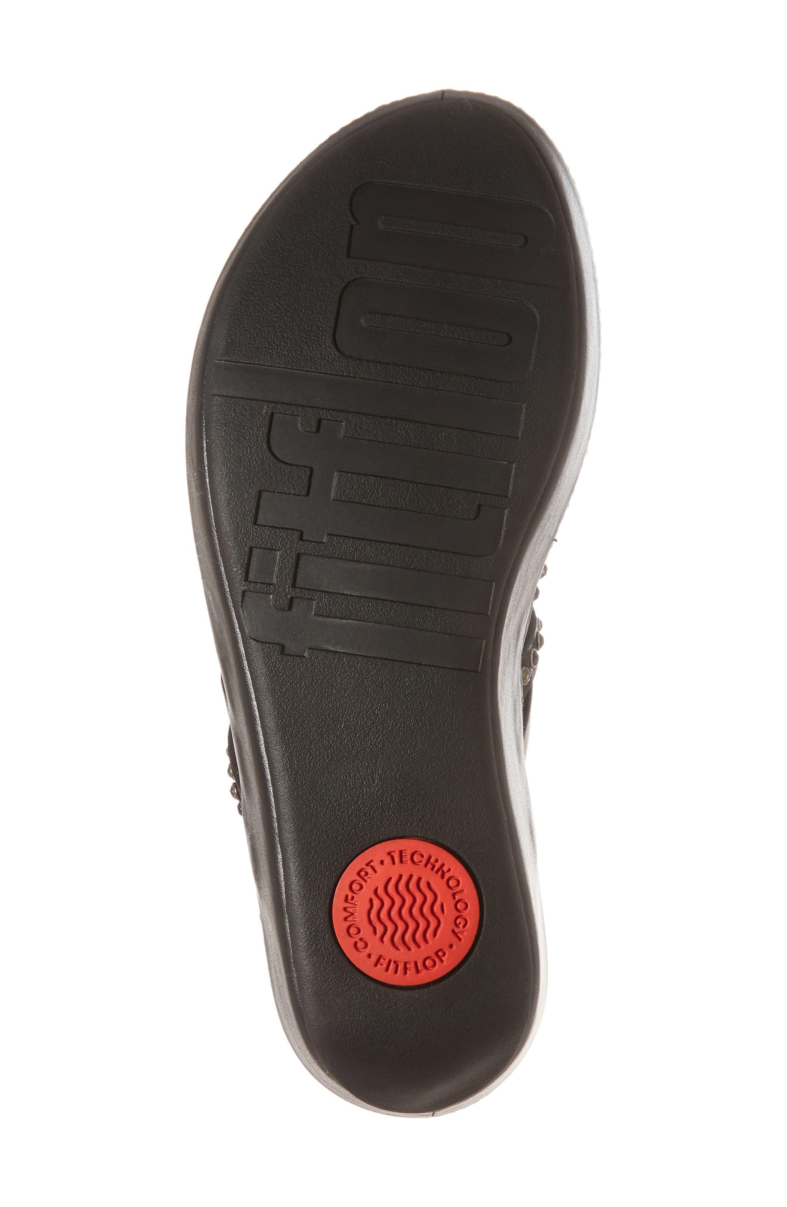 Linny Embellished Slide Sandal,                             Alternate thumbnail 6, color,                             001