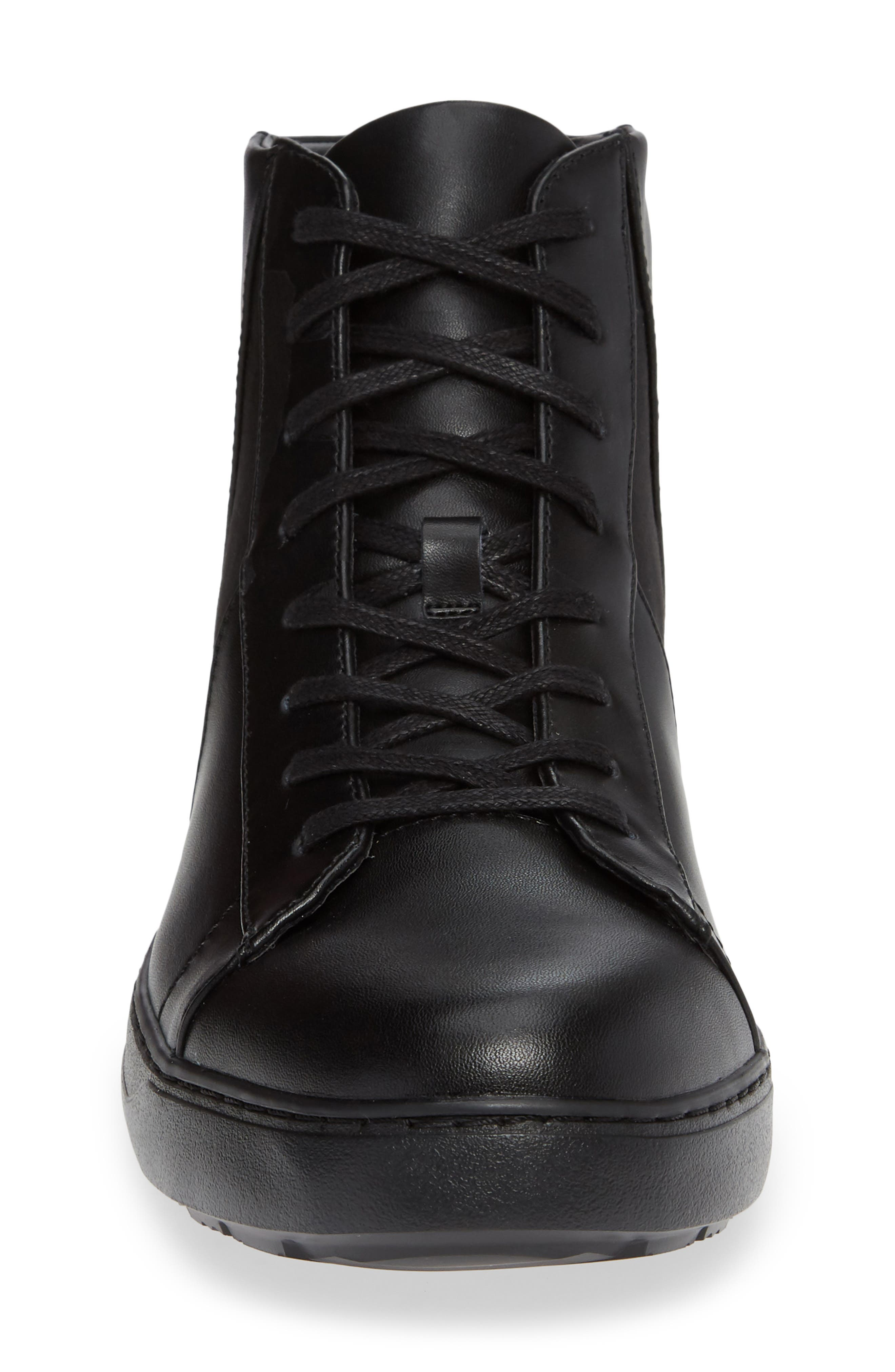 Salvador High Top Sneaker,                             Alternate thumbnail 4, color,                             BLACK/ BLACK LEATHER