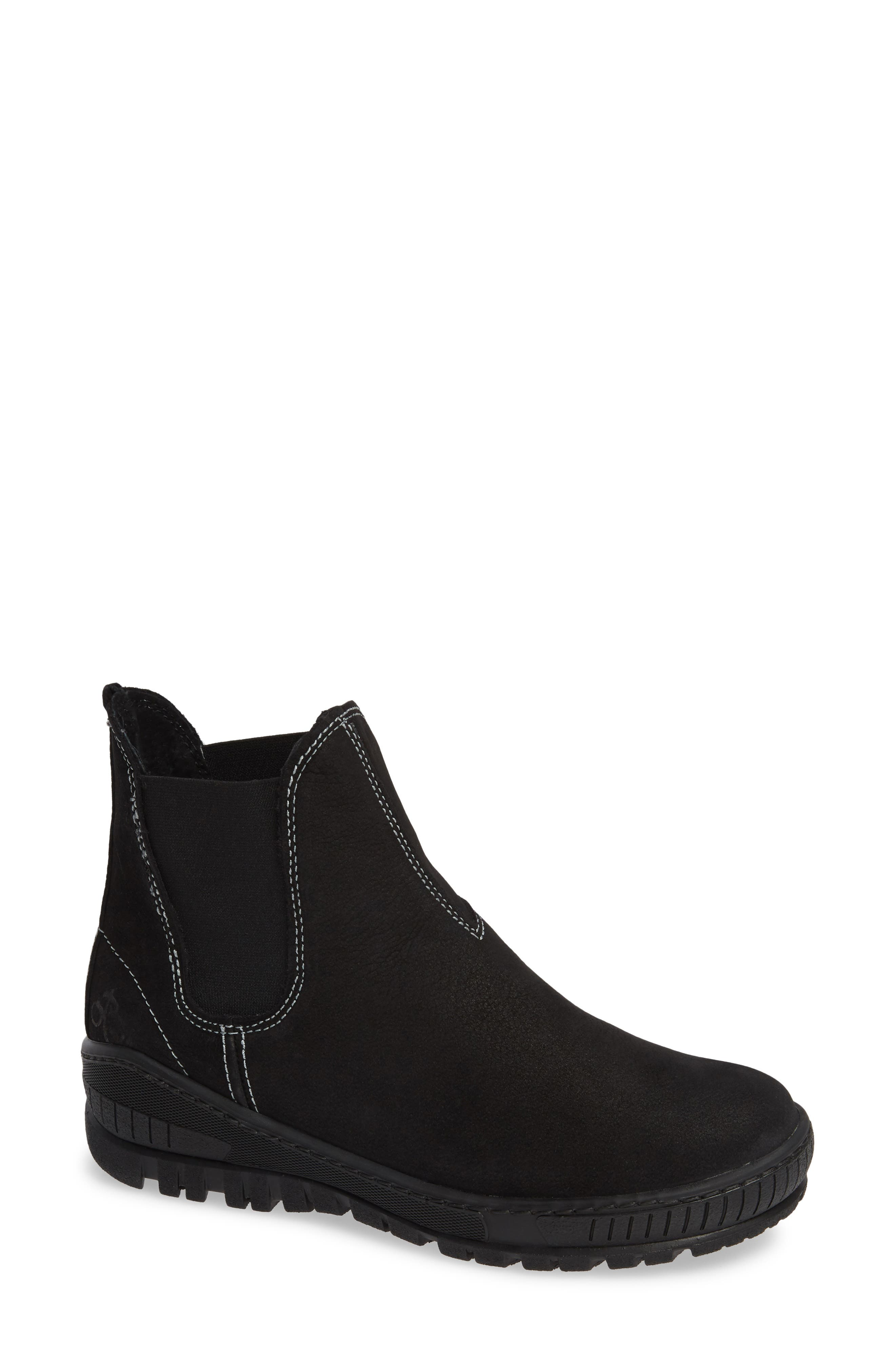 Embark Chelsea Bootie,                             Main thumbnail 1, color,                             BLACK LEATHER