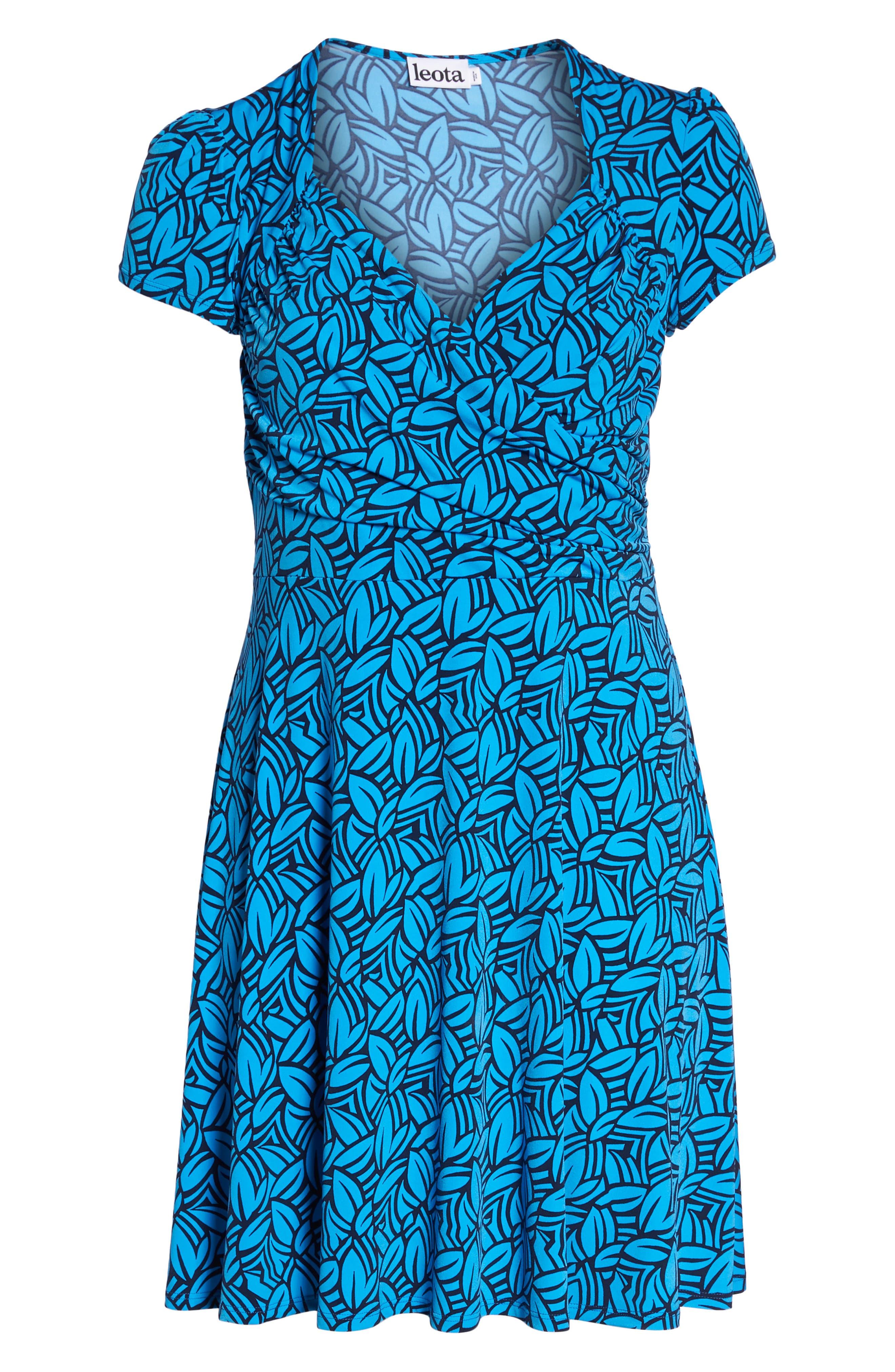Faux Wrap Jersey Dress,                             Alternate thumbnail 7, color,                             FORGE BLITHE