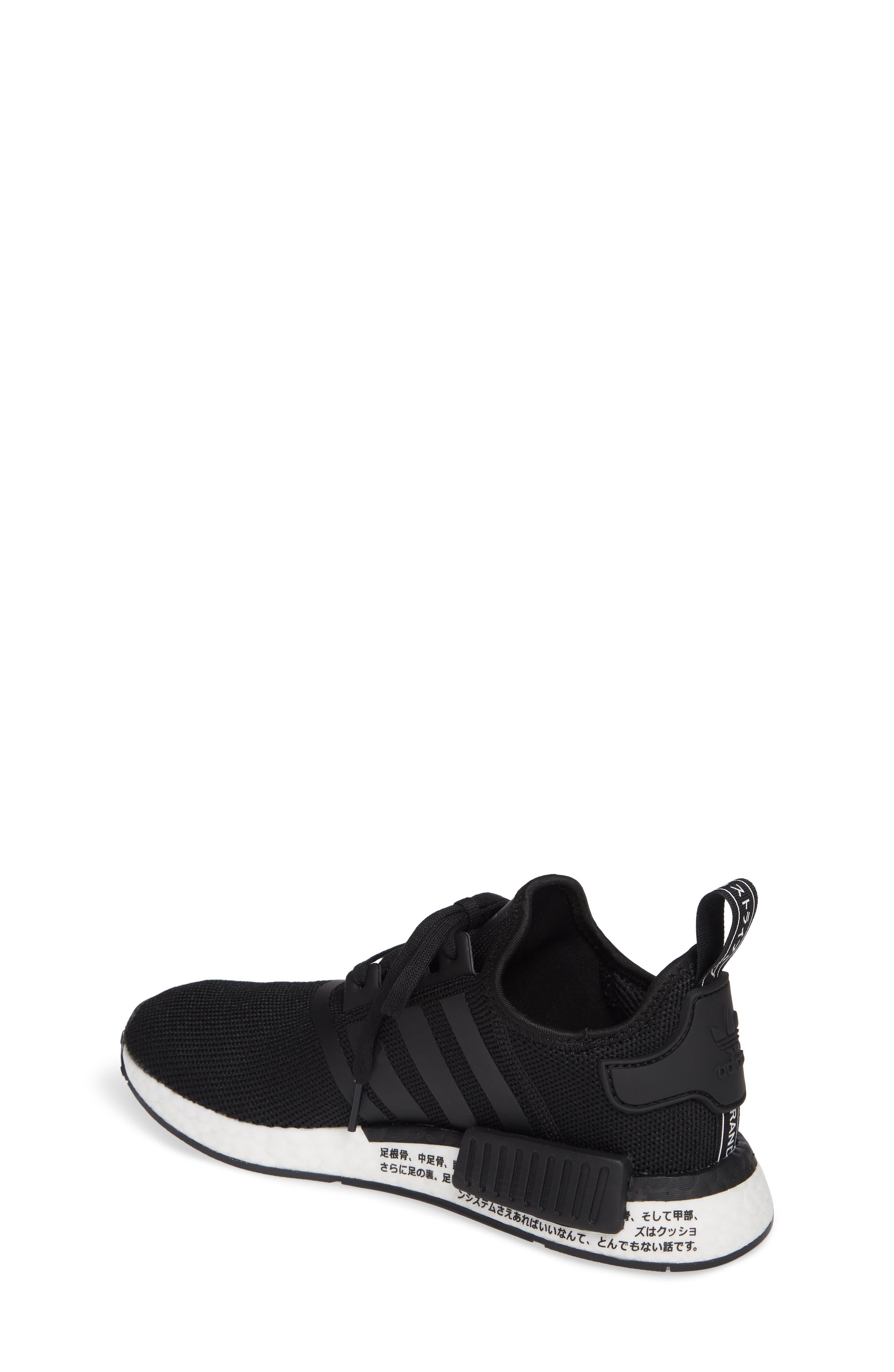 NMD R1 Sneaker,                             Alternate thumbnail 2, color,                             CORE BLACK/ BLACK/ ORCHID TINT