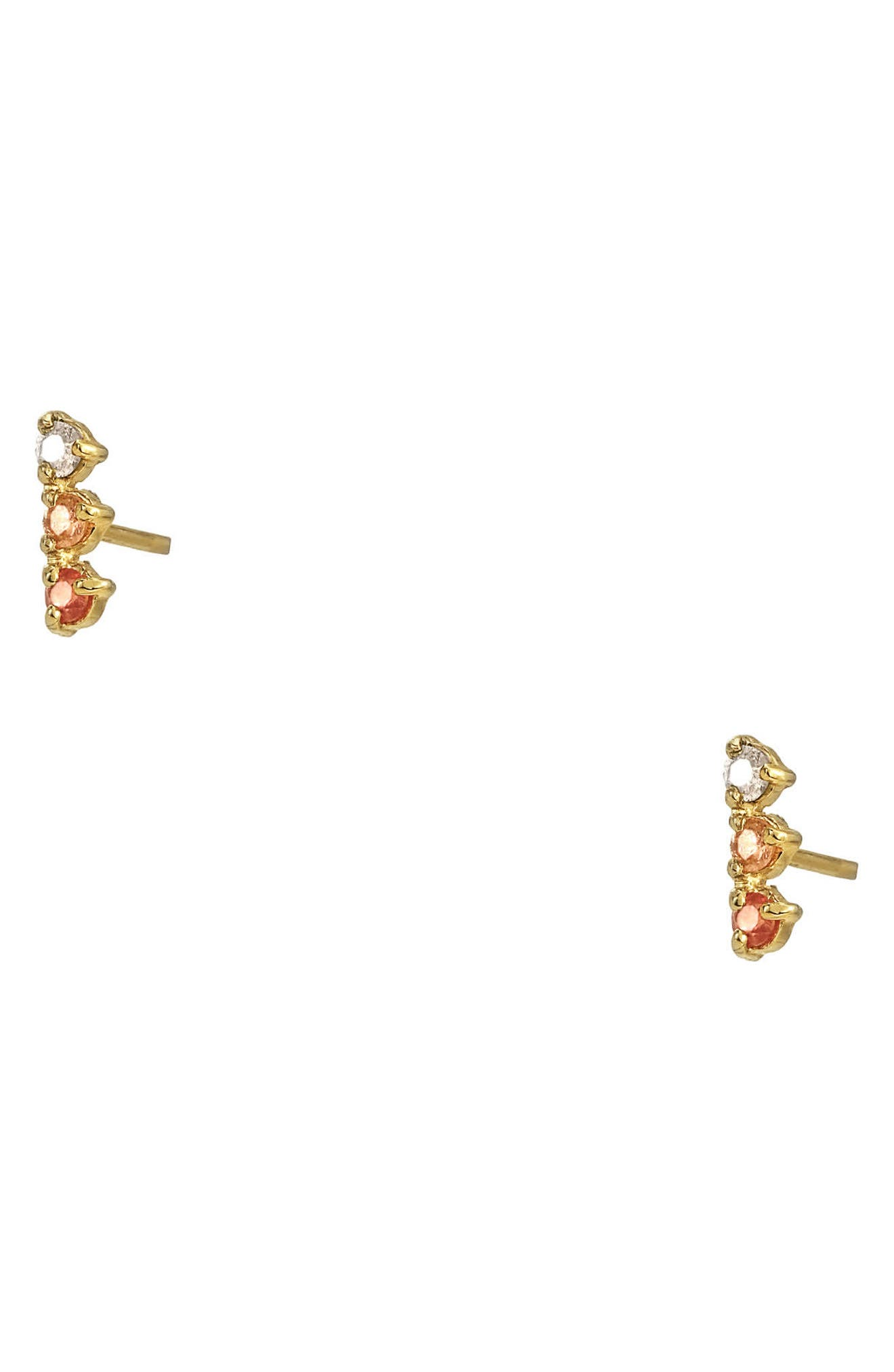 Counting Collection Three-Step Opal & Diamond Statement Earrings,                             Alternate thumbnail 2, color,                             PINK TOURMALINE SUNSTONE WHITE