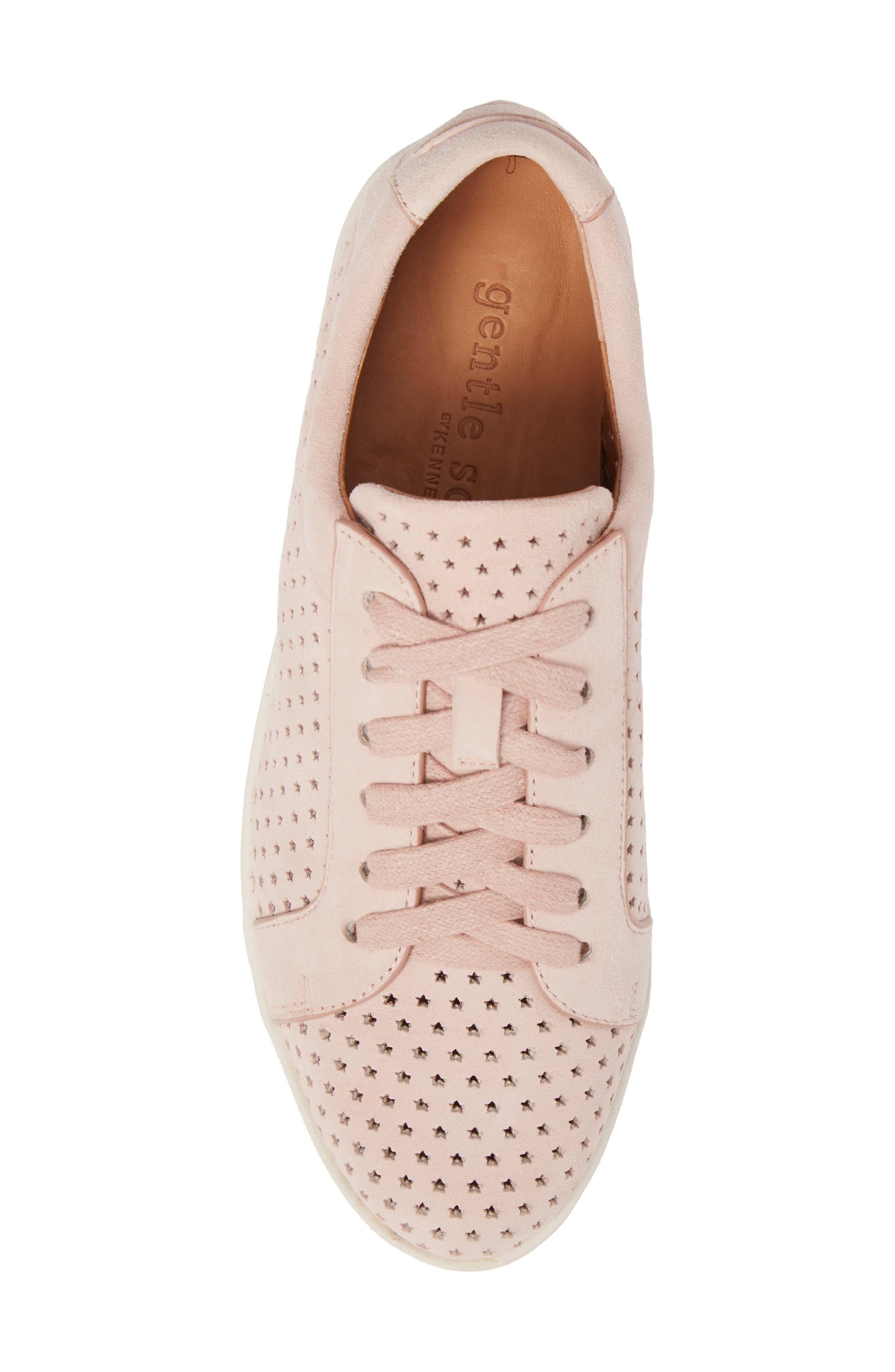 Haddie Low Platform Sneaker,                             Alternate thumbnail 5, color,                             PEONY