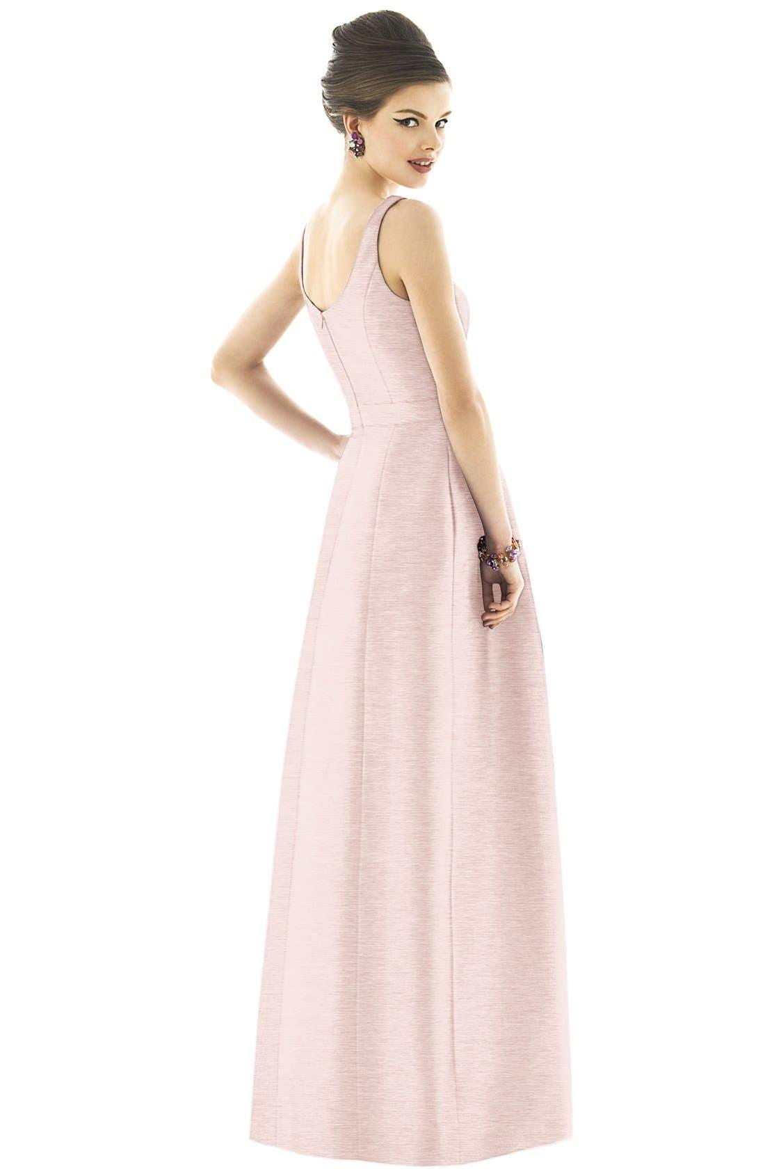Scoop Neck Dupioni Full Length Dress,                             Alternate thumbnail 10, color,