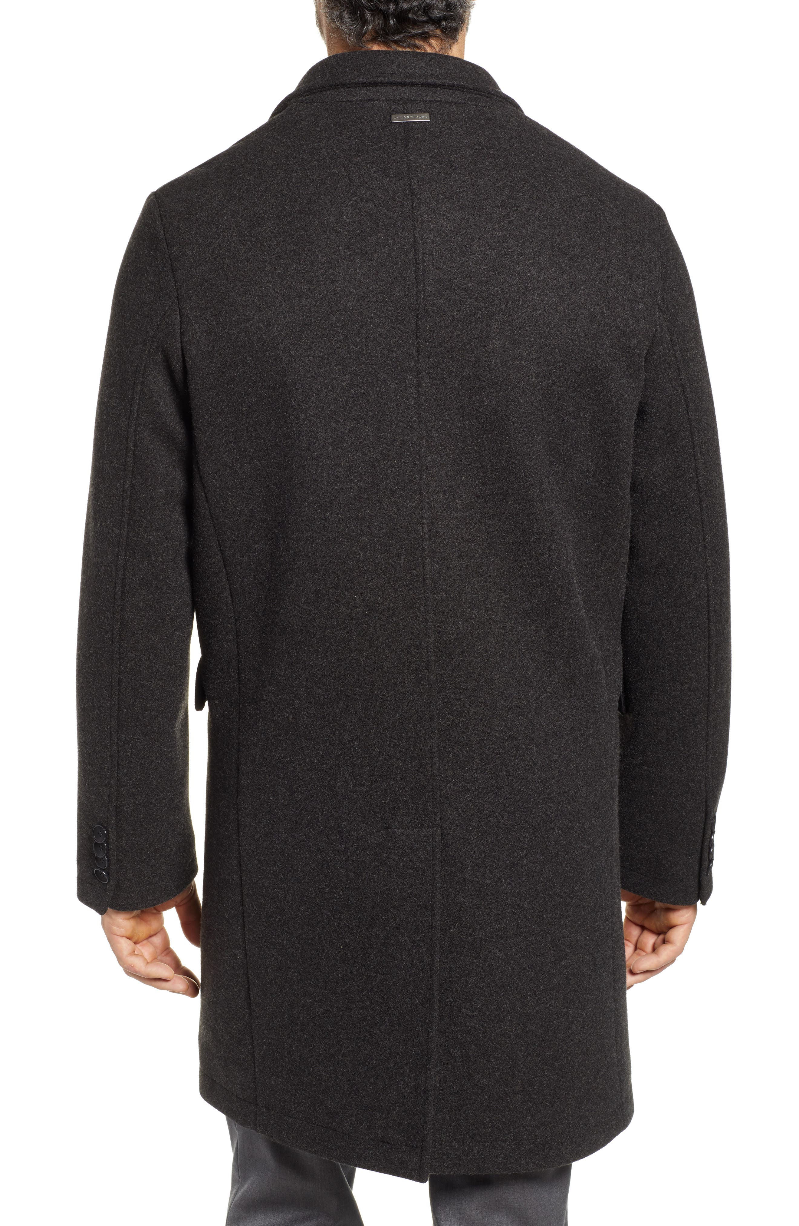Cunningham Quilted Bib Inset Topcoat,                             Alternate thumbnail 2, color,                             CHARCOAL