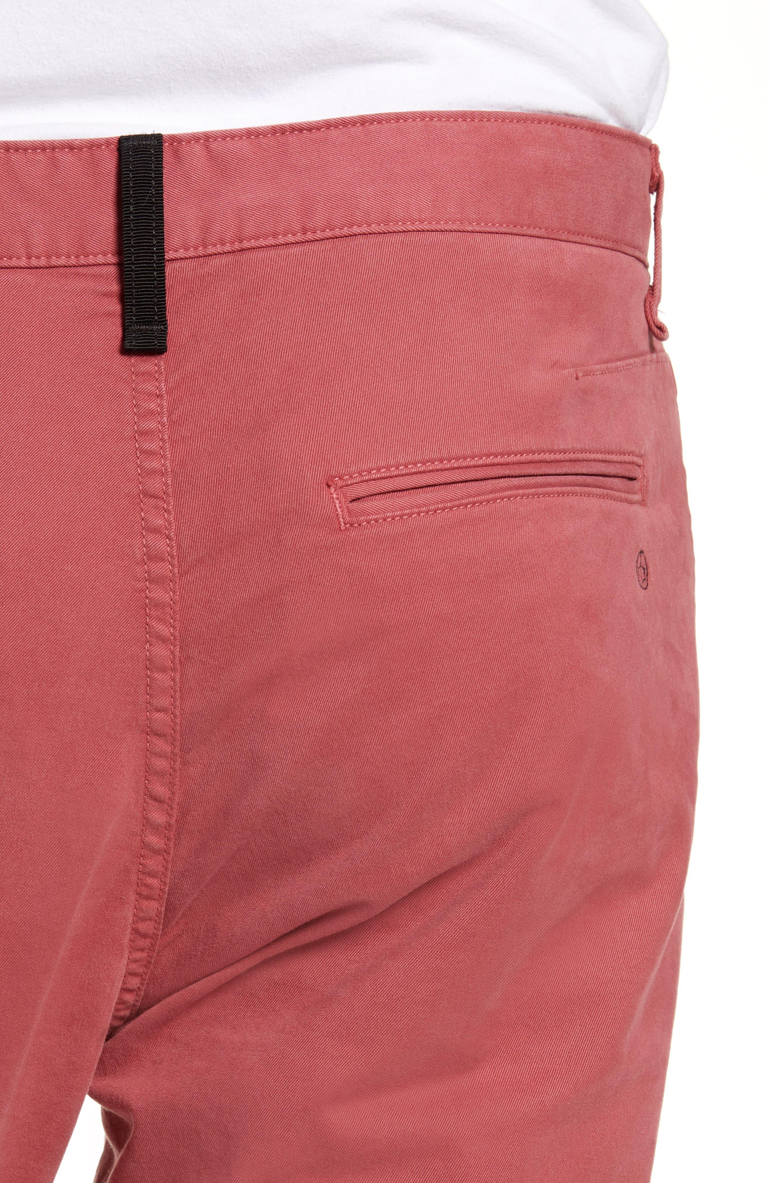 RAG & BONE,                             Fit 2 Slim Fit Chinos,                             Alternate thumbnail 4, color,                             ELLIS RED