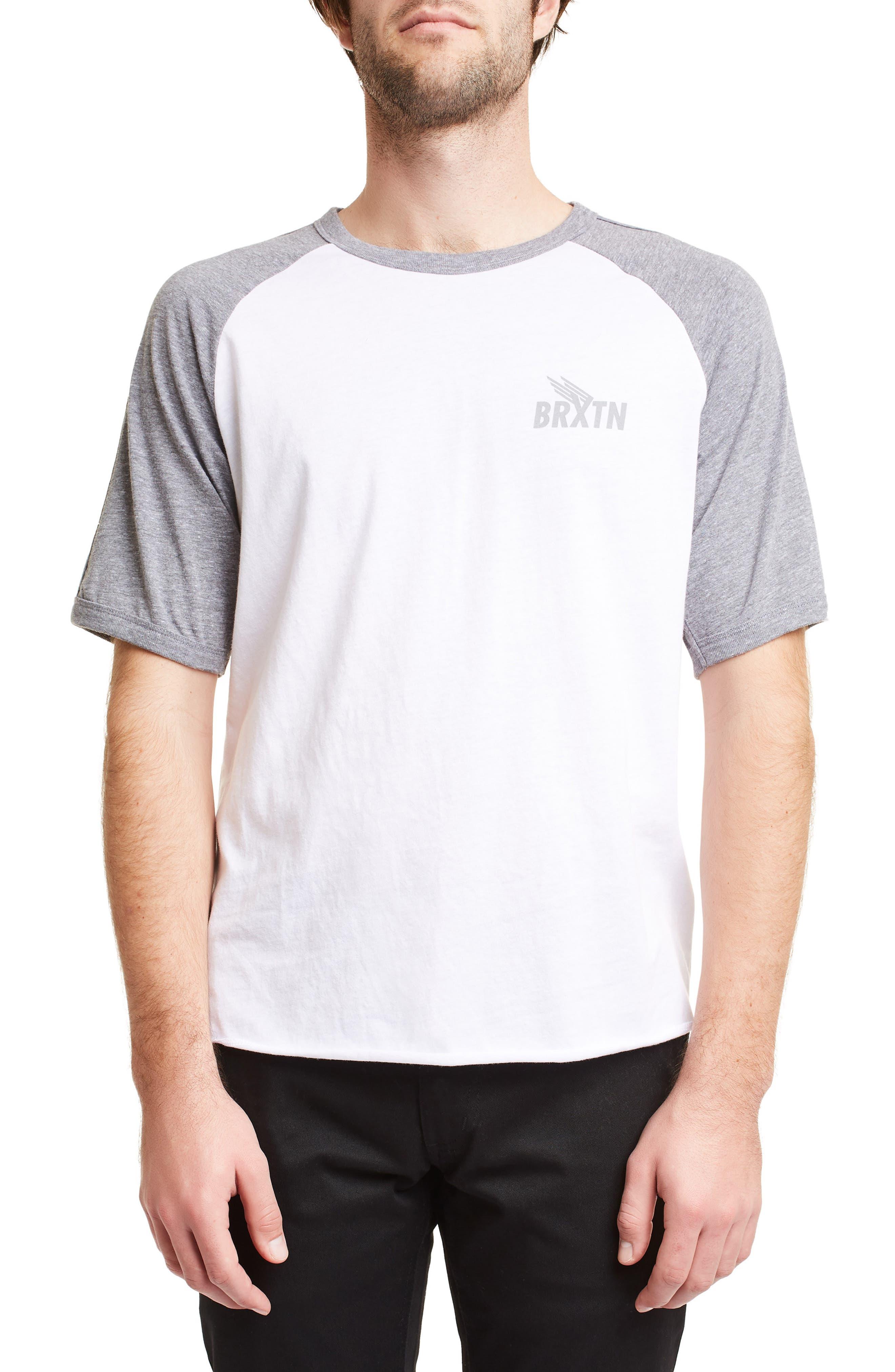 Brixton Rogers Ii Raglan T-Shirt, White