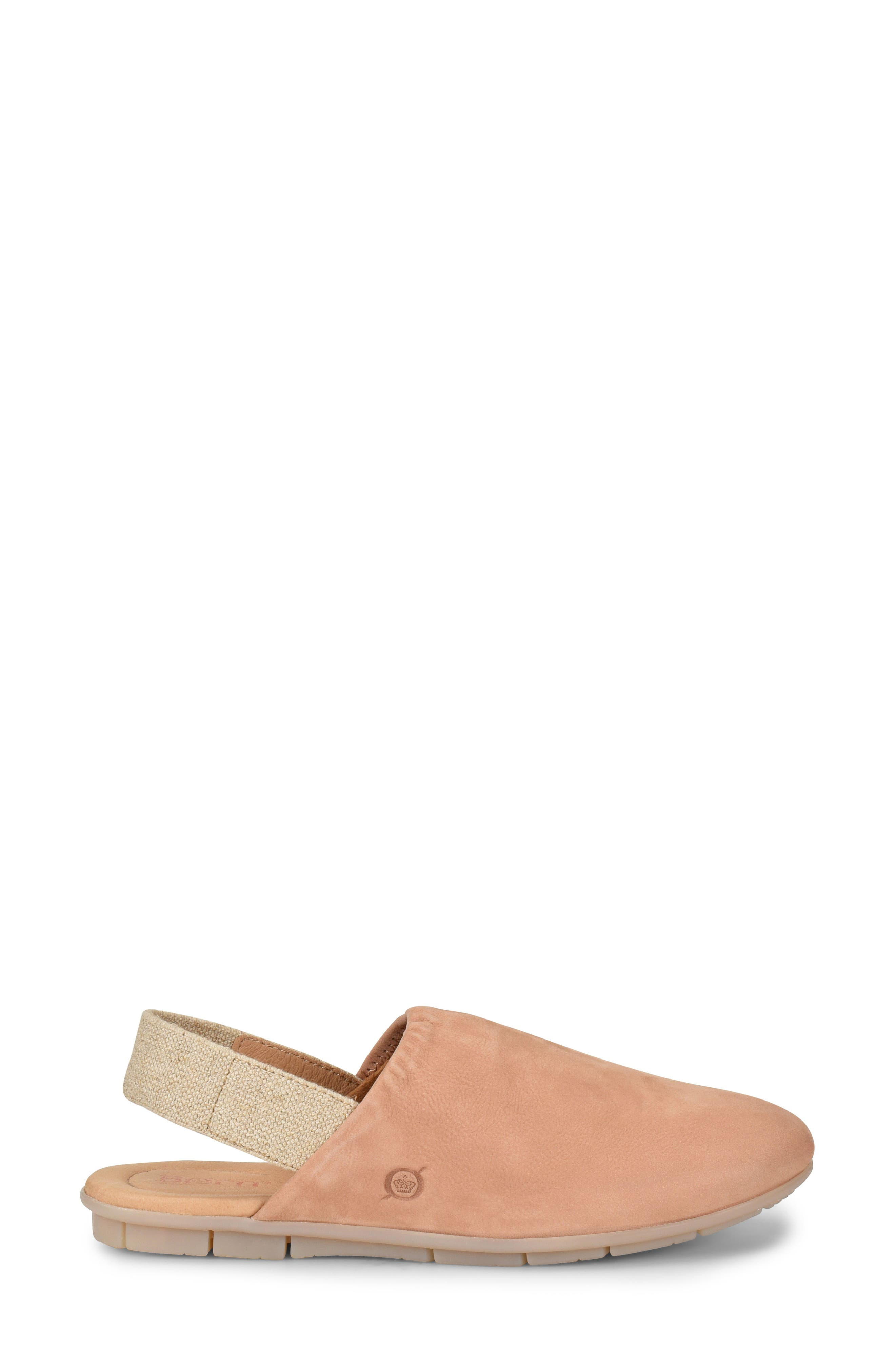 Bowe Slingback Flat,                             Alternate thumbnail 3, color,                             BLUSH NUBUCK