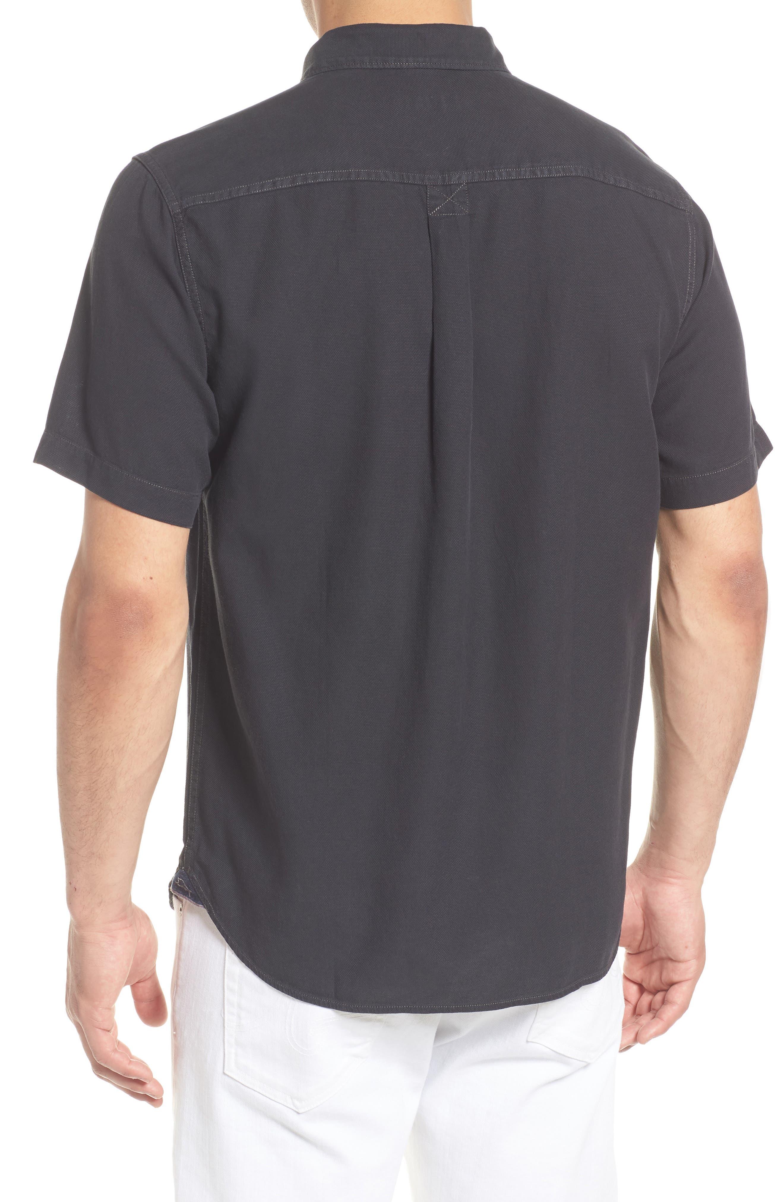 Dobby Dylan Sport Shirt,                             Alternate thumbnail 2, color,                             BLACK