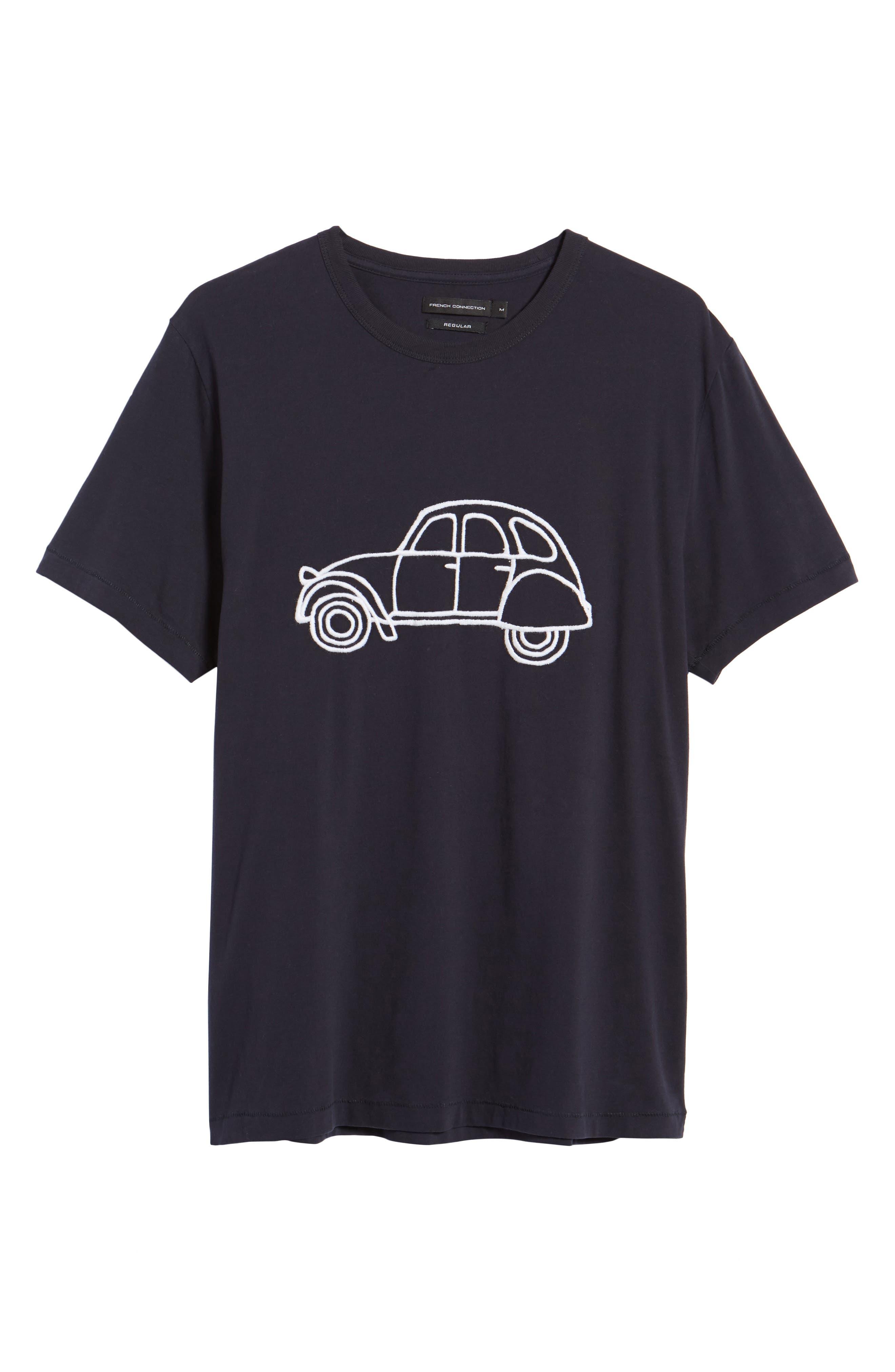 Car Slim Fit Crewneck T-Shirt,                             Alternate thumbnail 6, color,                             491