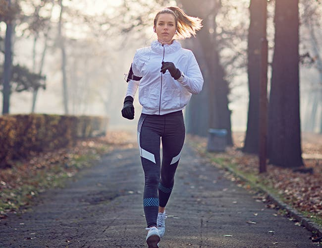 What to wear for running in cold weather.