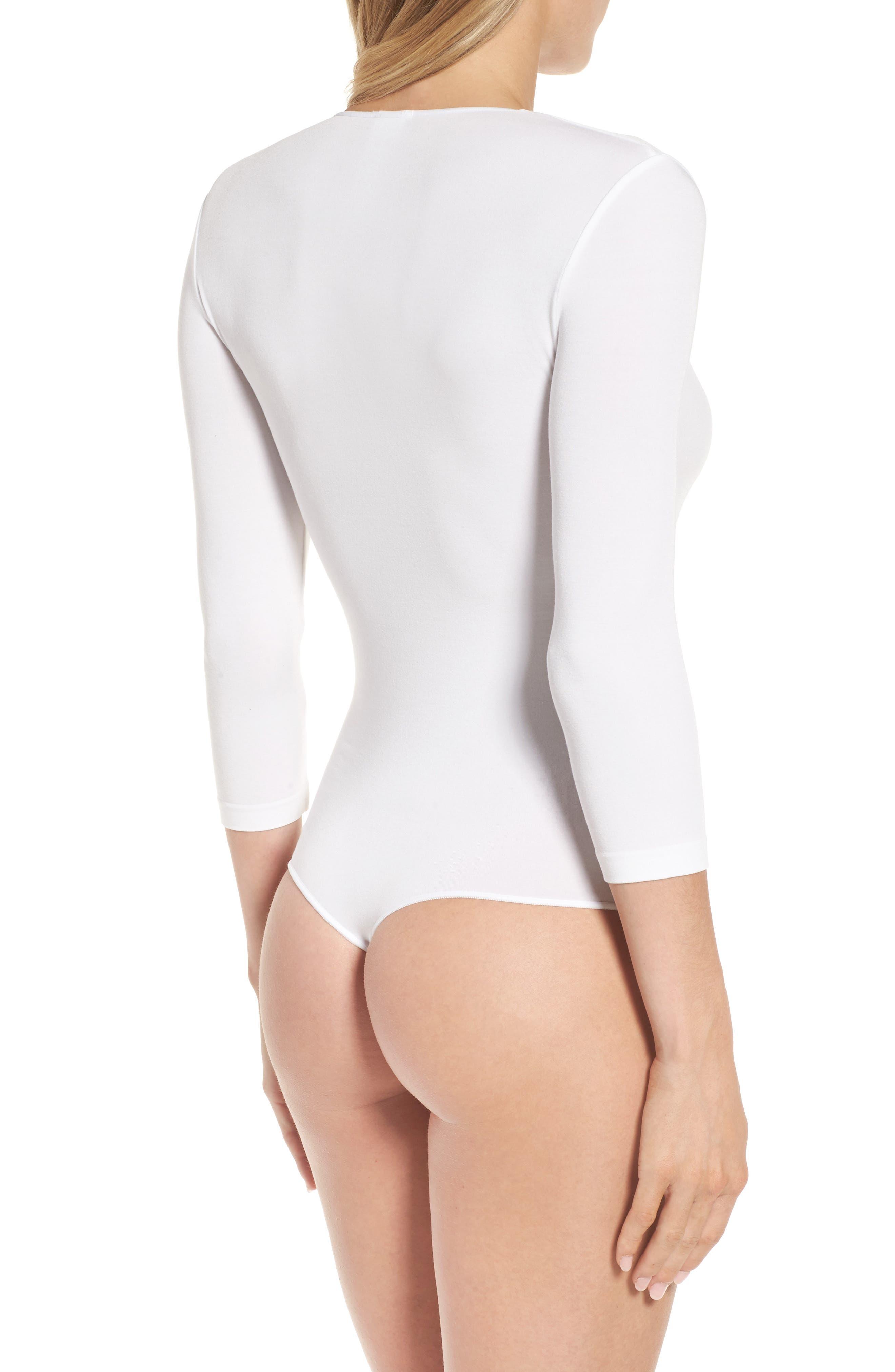 Tokio Thong Bodysuit,                             Alternate thumbnail 2, color,                             WHITE