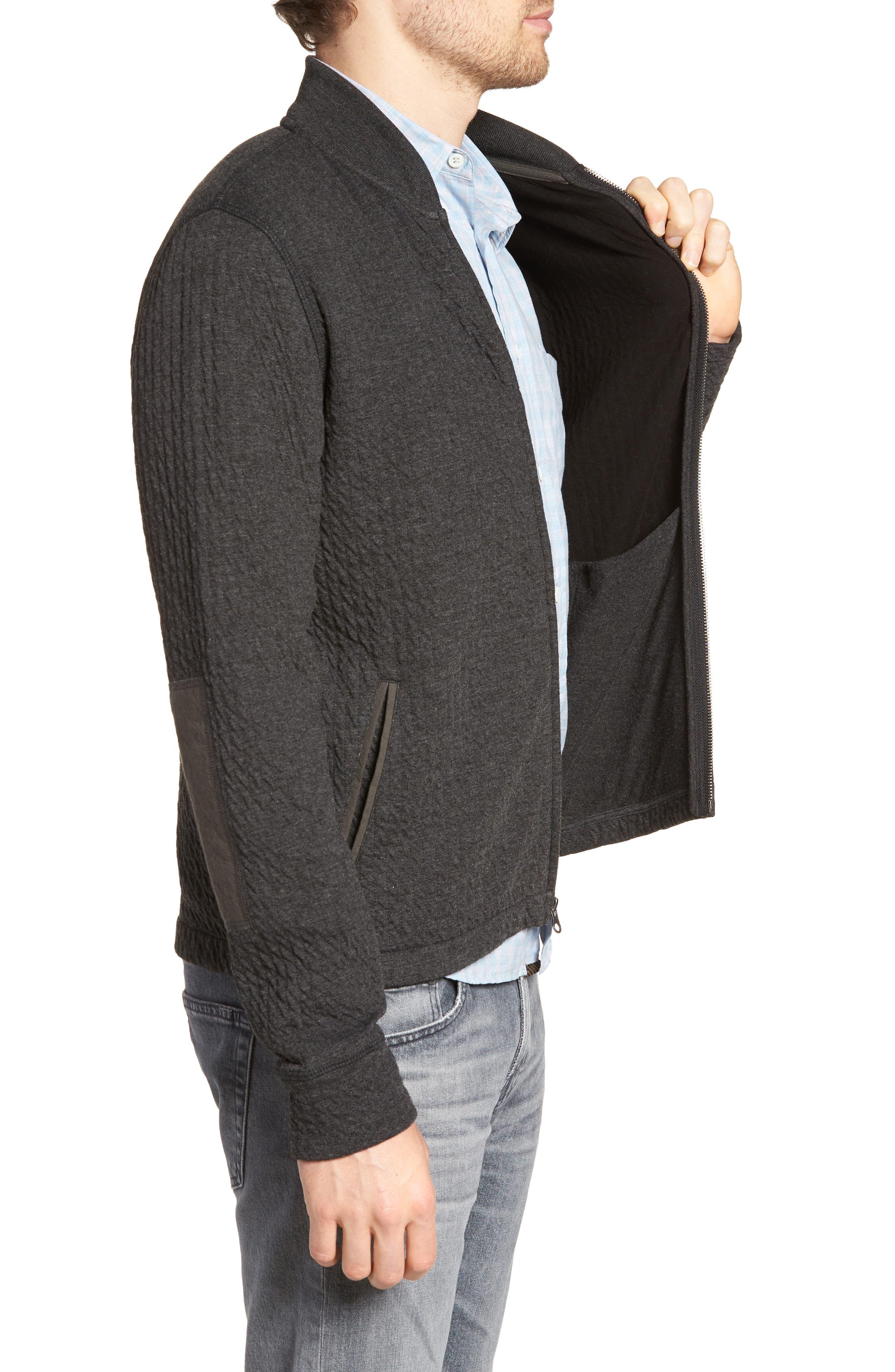 Giles Slim Fit Zip-Up Sweatshirt,                             Alternate thumbnail 3, color,                             402