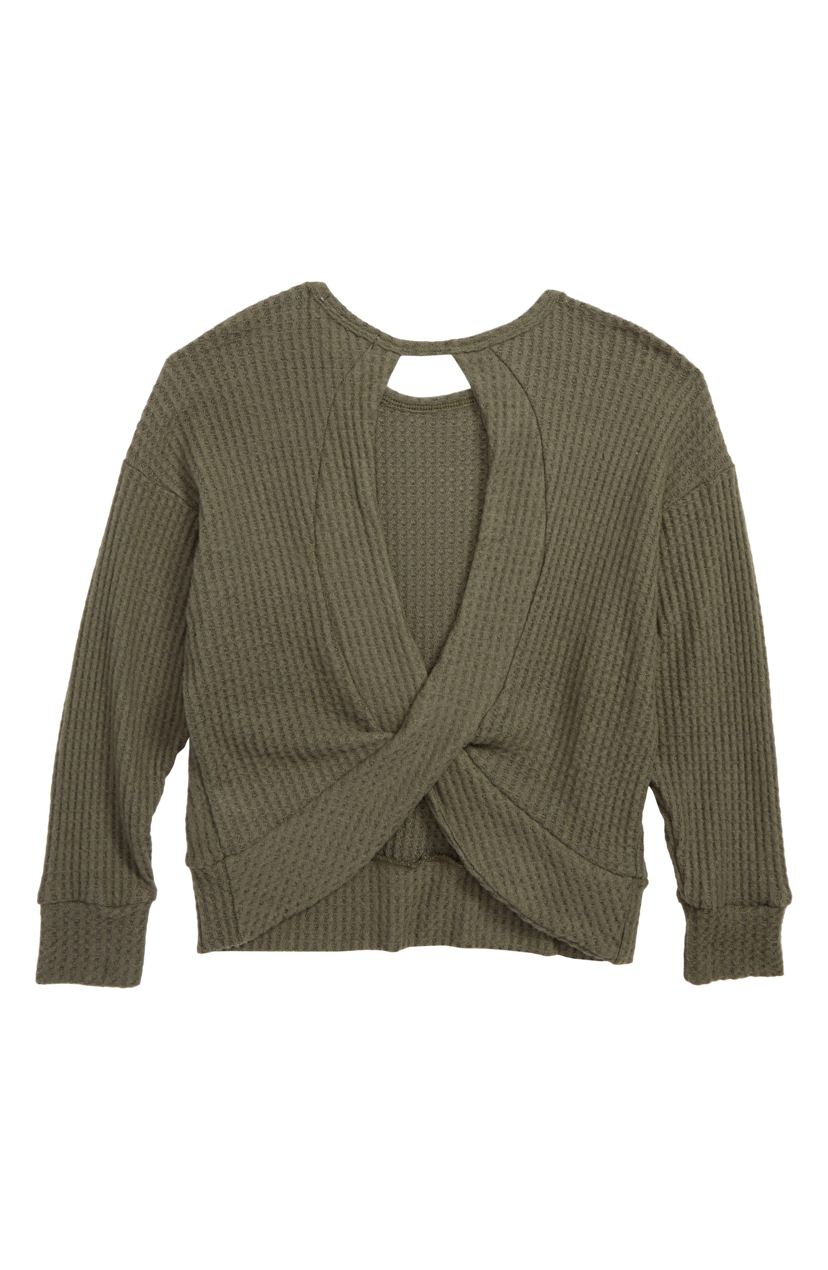 Dolman Sleeve Pullover,                             Alternate thumbnail 2, color,                             OLIVE