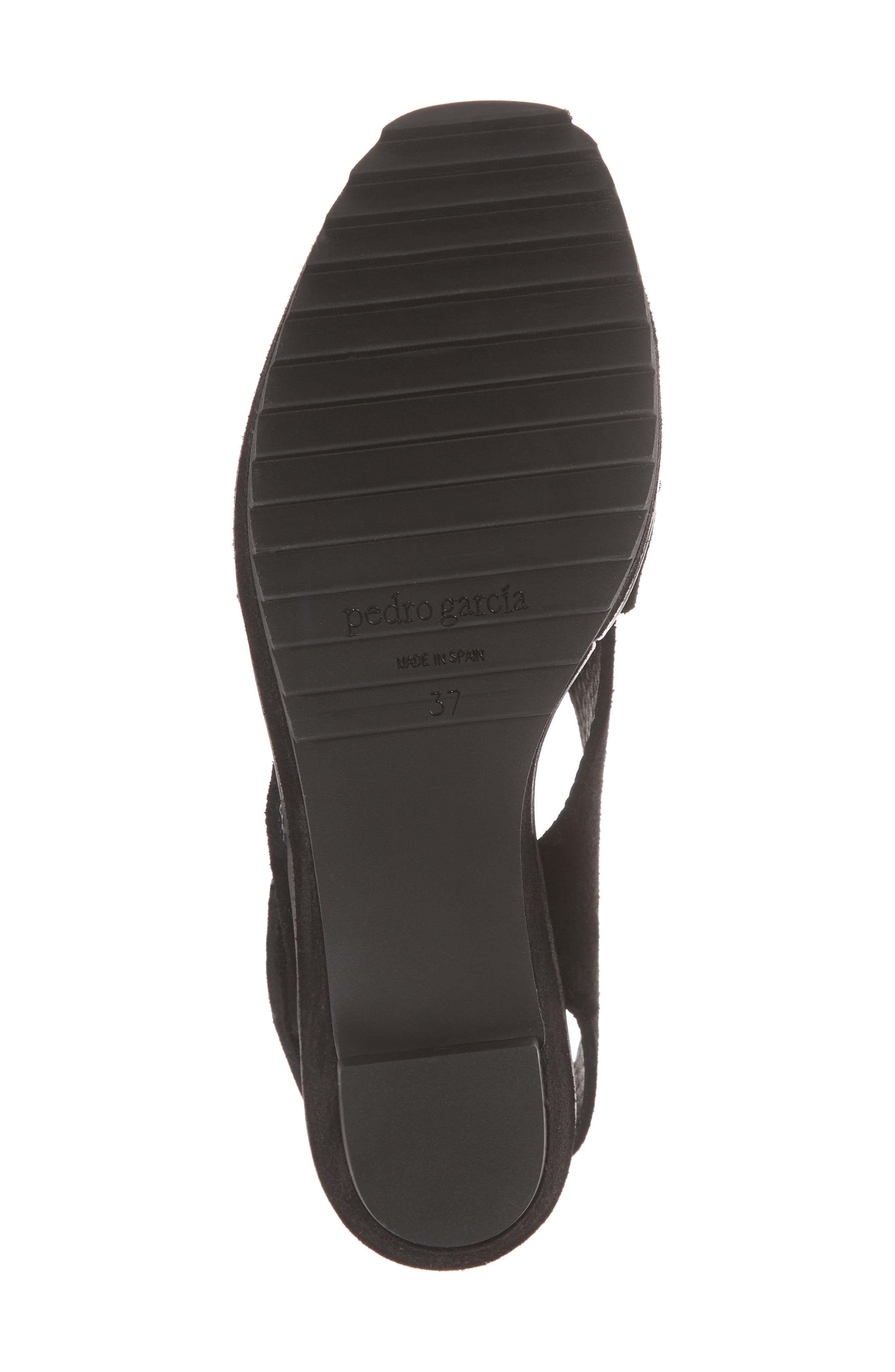 Fayre Cross Strap Wedge Sandal,                             Alternate thumbnail 6, color,                             BLACK