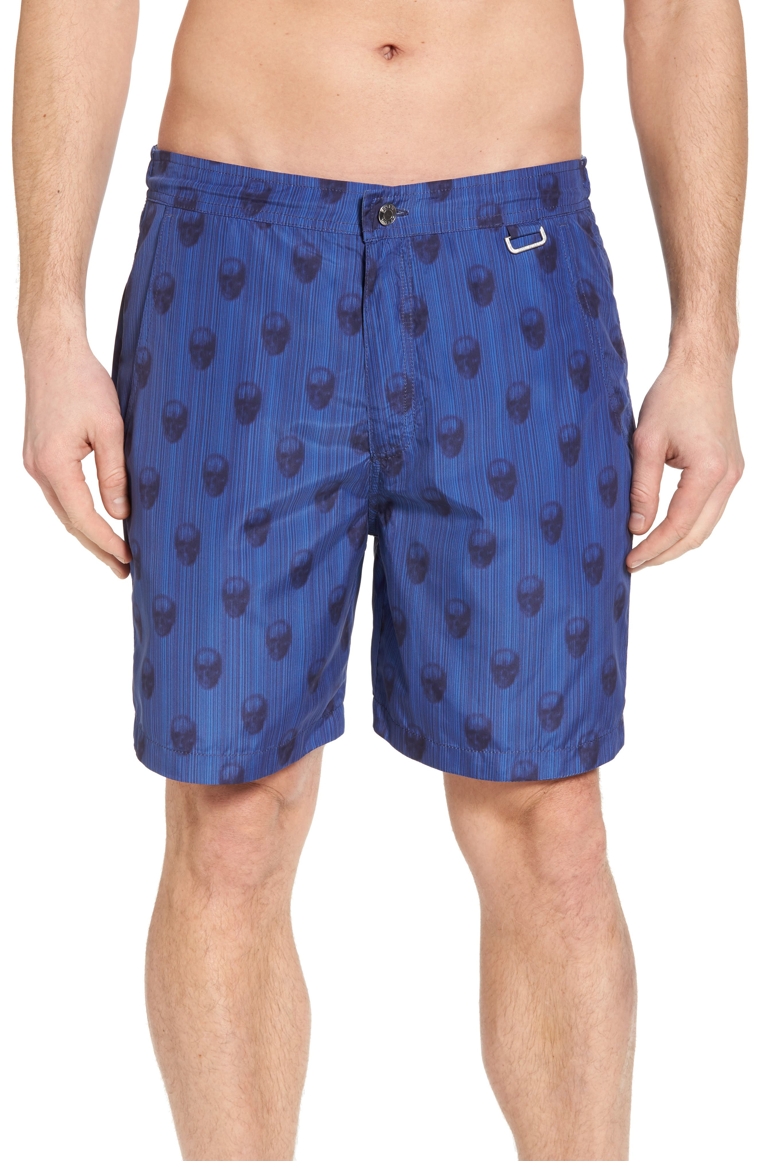 Peter Millar Black Jack's Bay Swim Trunks,                         Main,                         color, 440