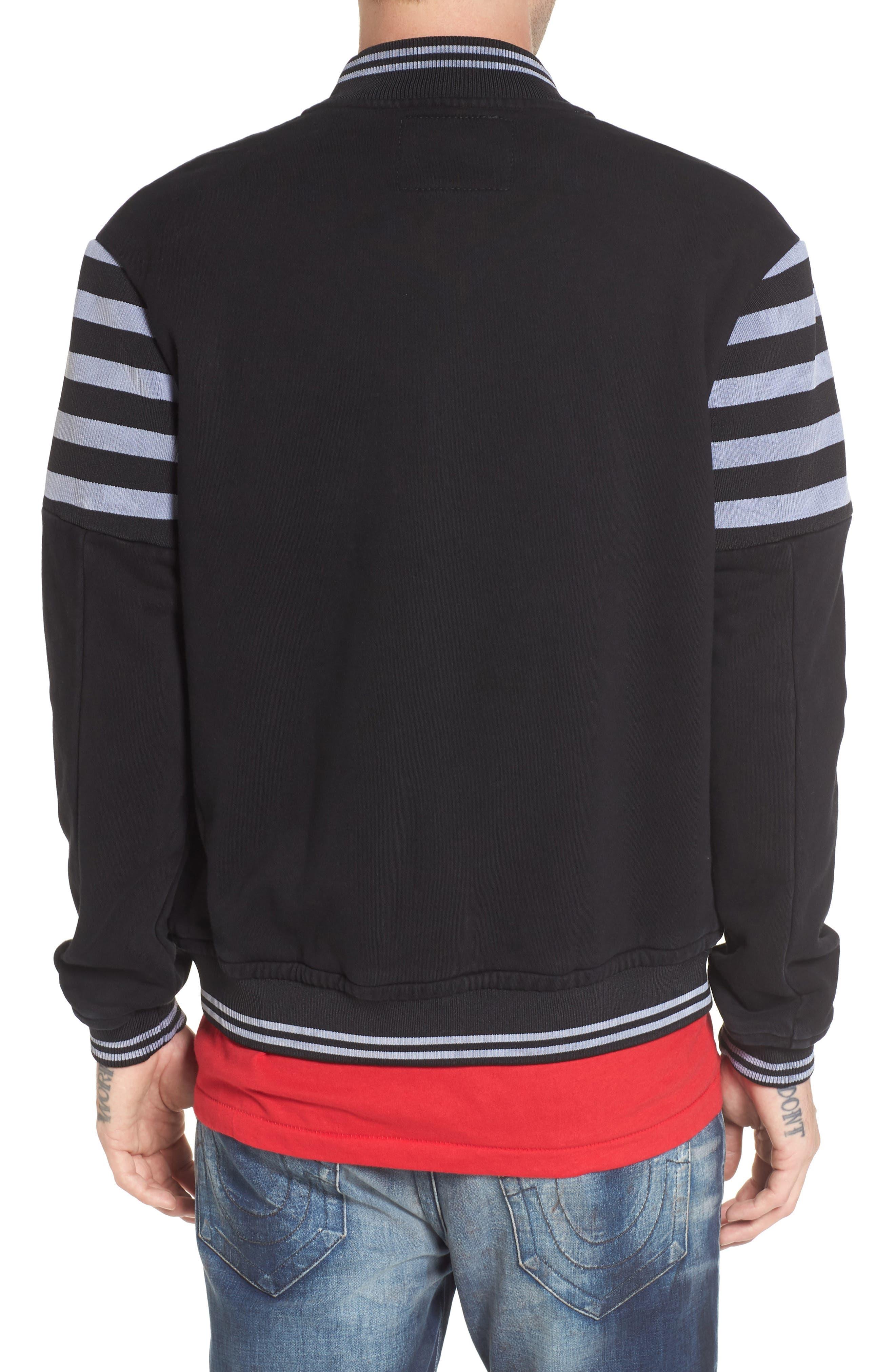 Collegiate Knit Inset Jacket,                             Alternate thumbnail 2, color,