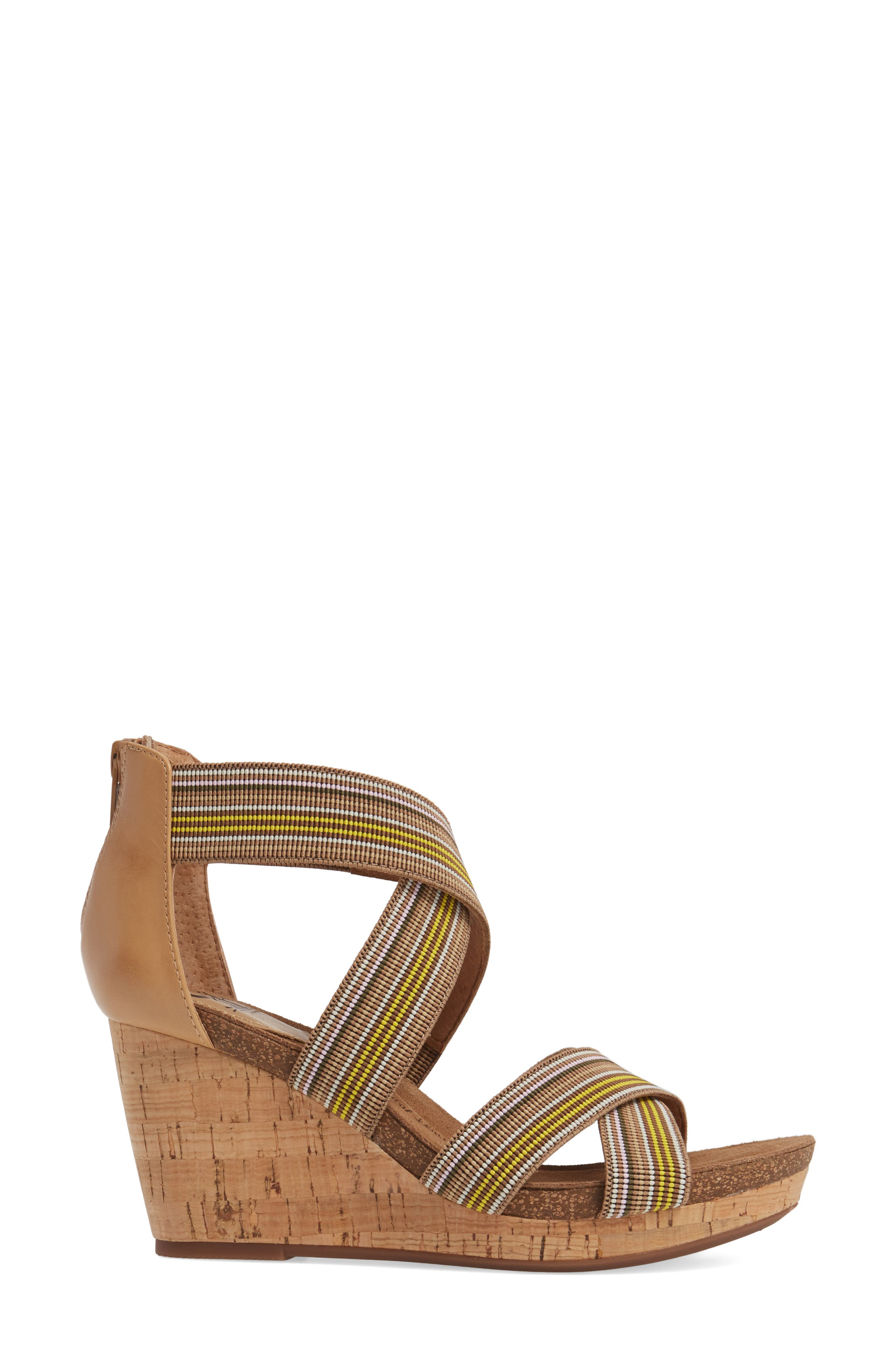 Cary Cross Strap Wedge Sandal,                             Alternate thumbnail 7, color,