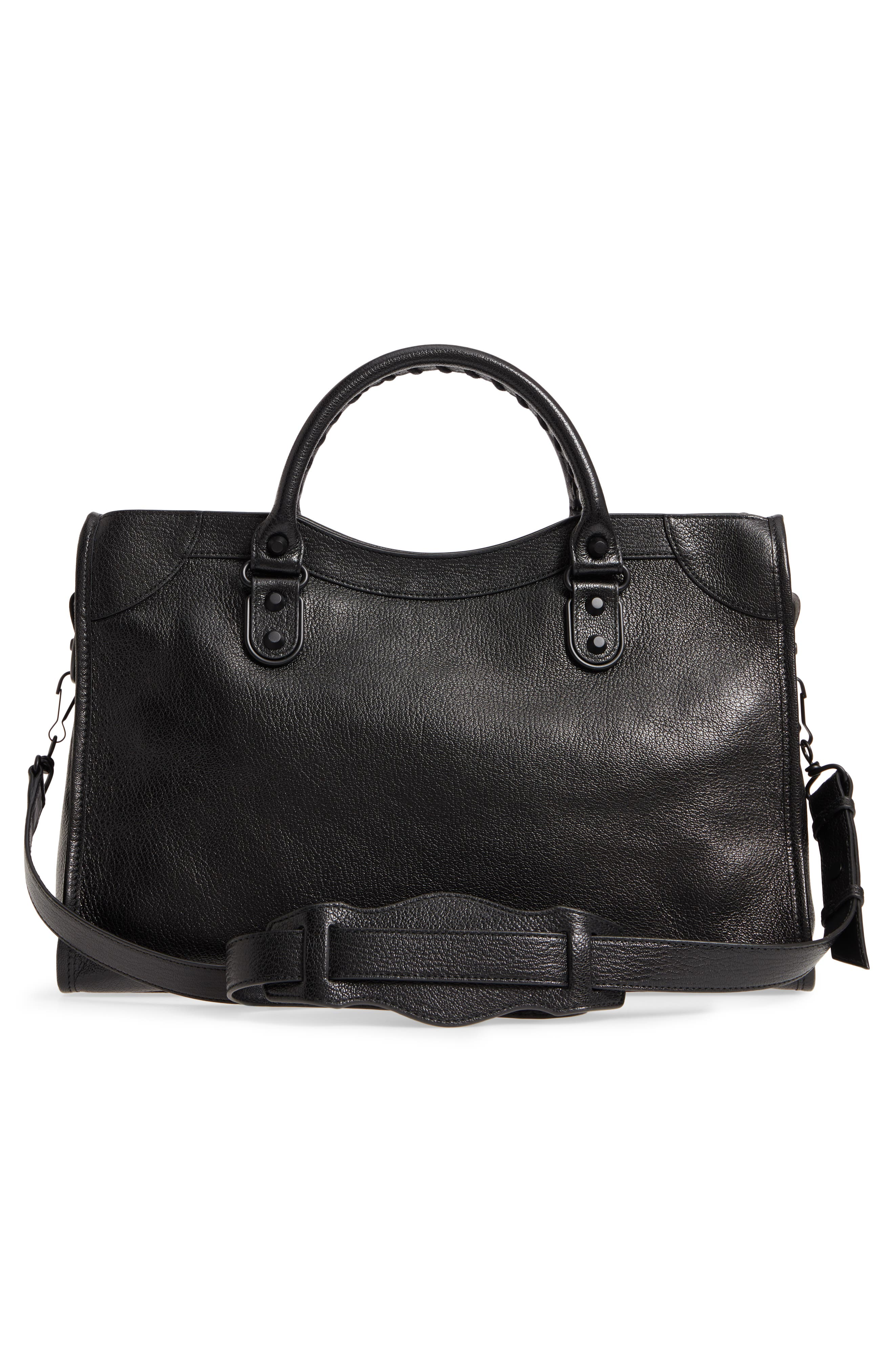 Classic City AJ Leather Tote,                             Alternate thumbnail 3, color,                             001