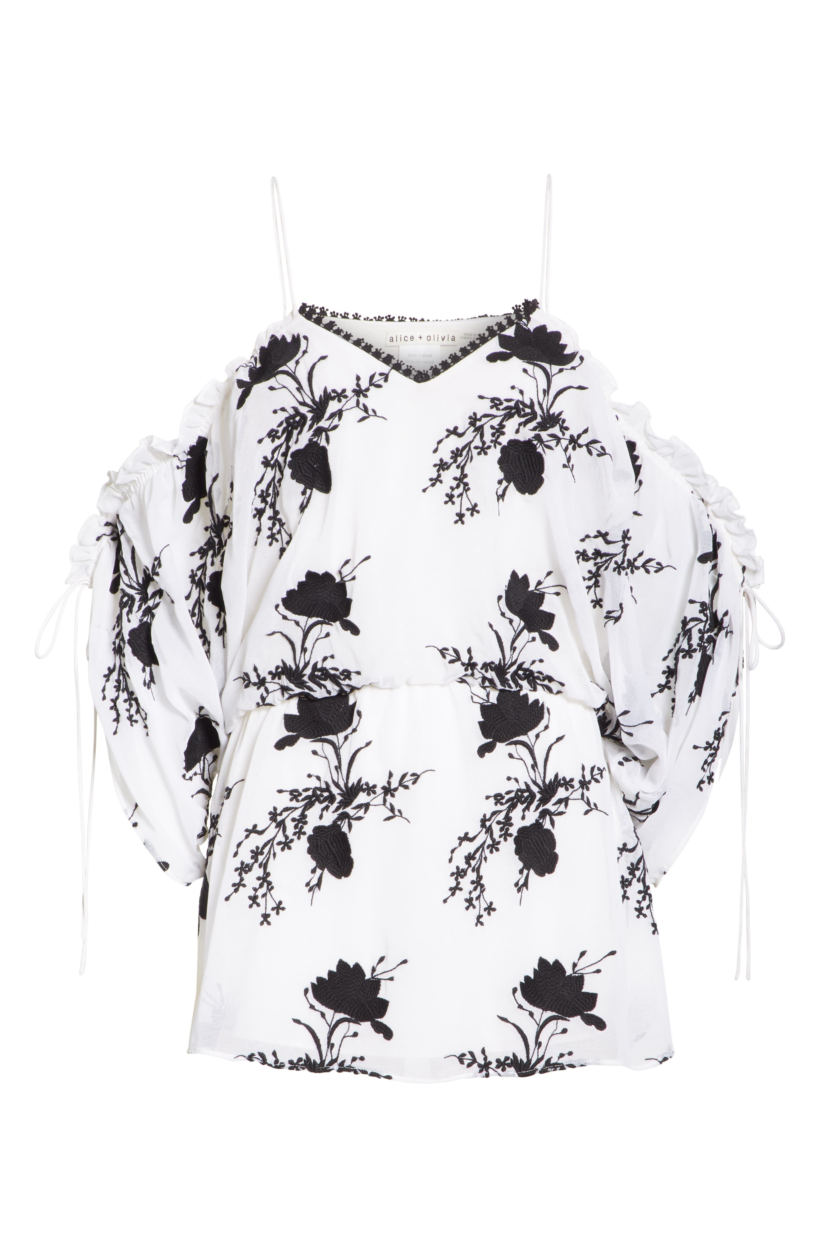 Holden Embroidery Drop Waist Blouse,                             Alternate thumbnail 6, color,