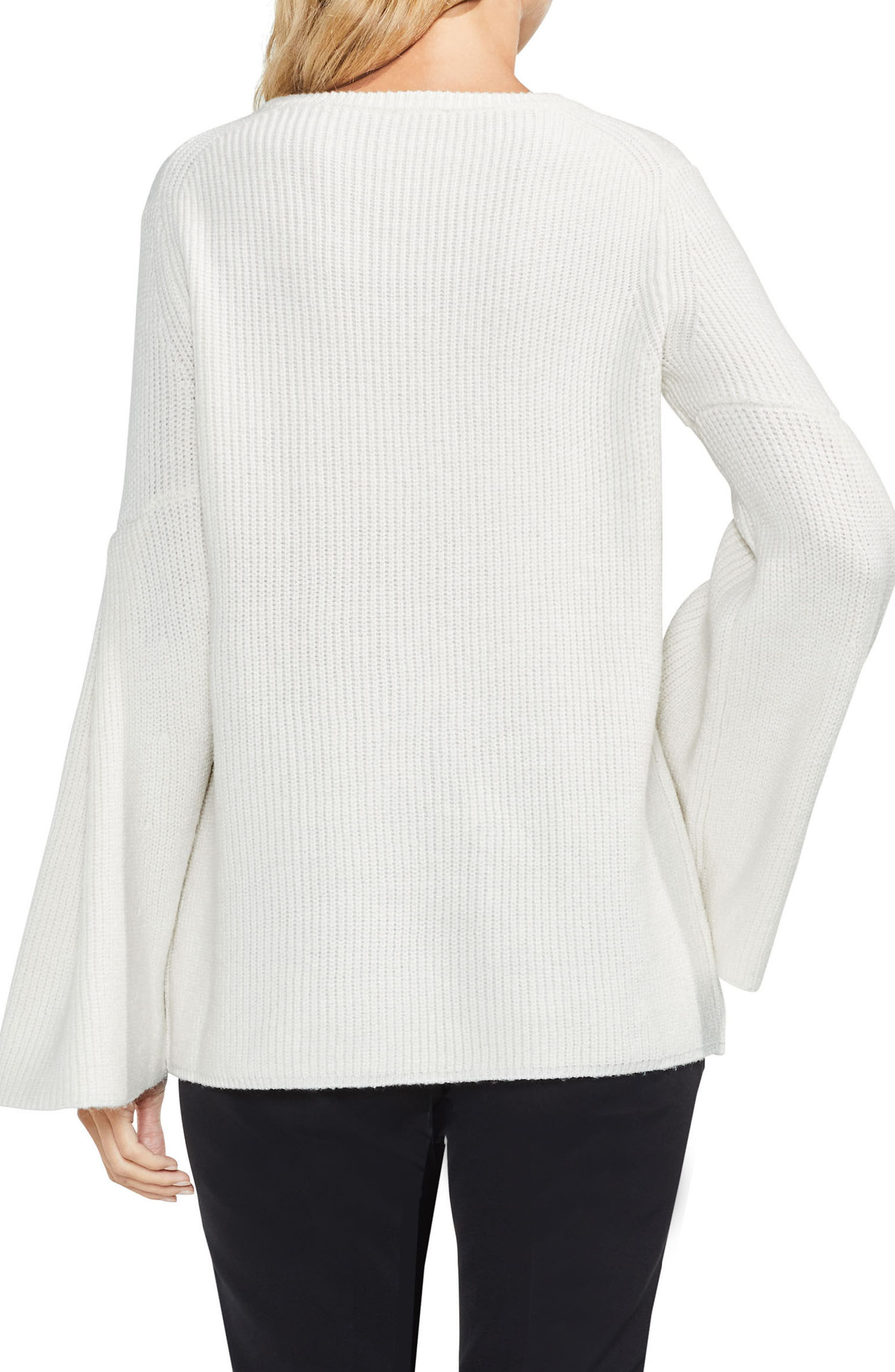 All Over Rib Bell Sleeve Sweater,                             Alternate thumbnail 8, color,