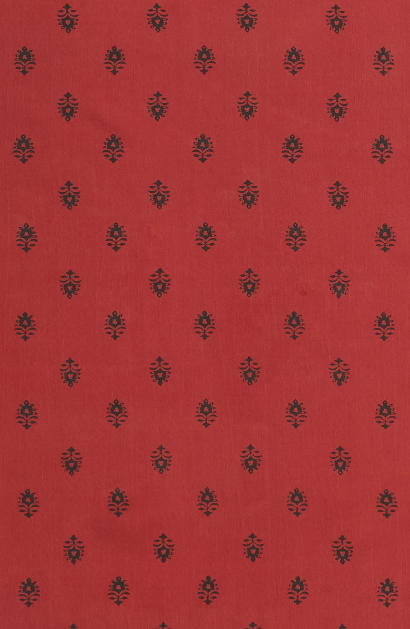 Printed Silk Square Scarf,                             Alternate thumbnail 4, color,                             RED BALI DOTS