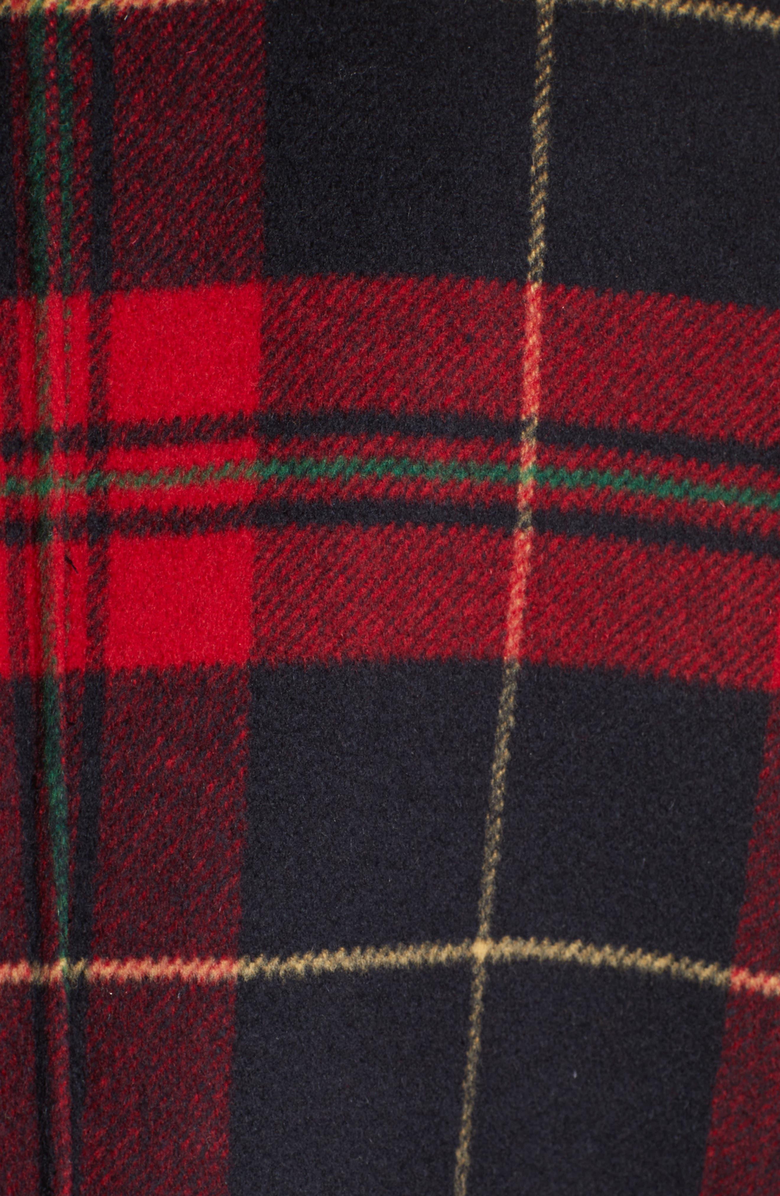 Plaid Double Face Jacket,                             Alternate thumbnail 5, color,                             001