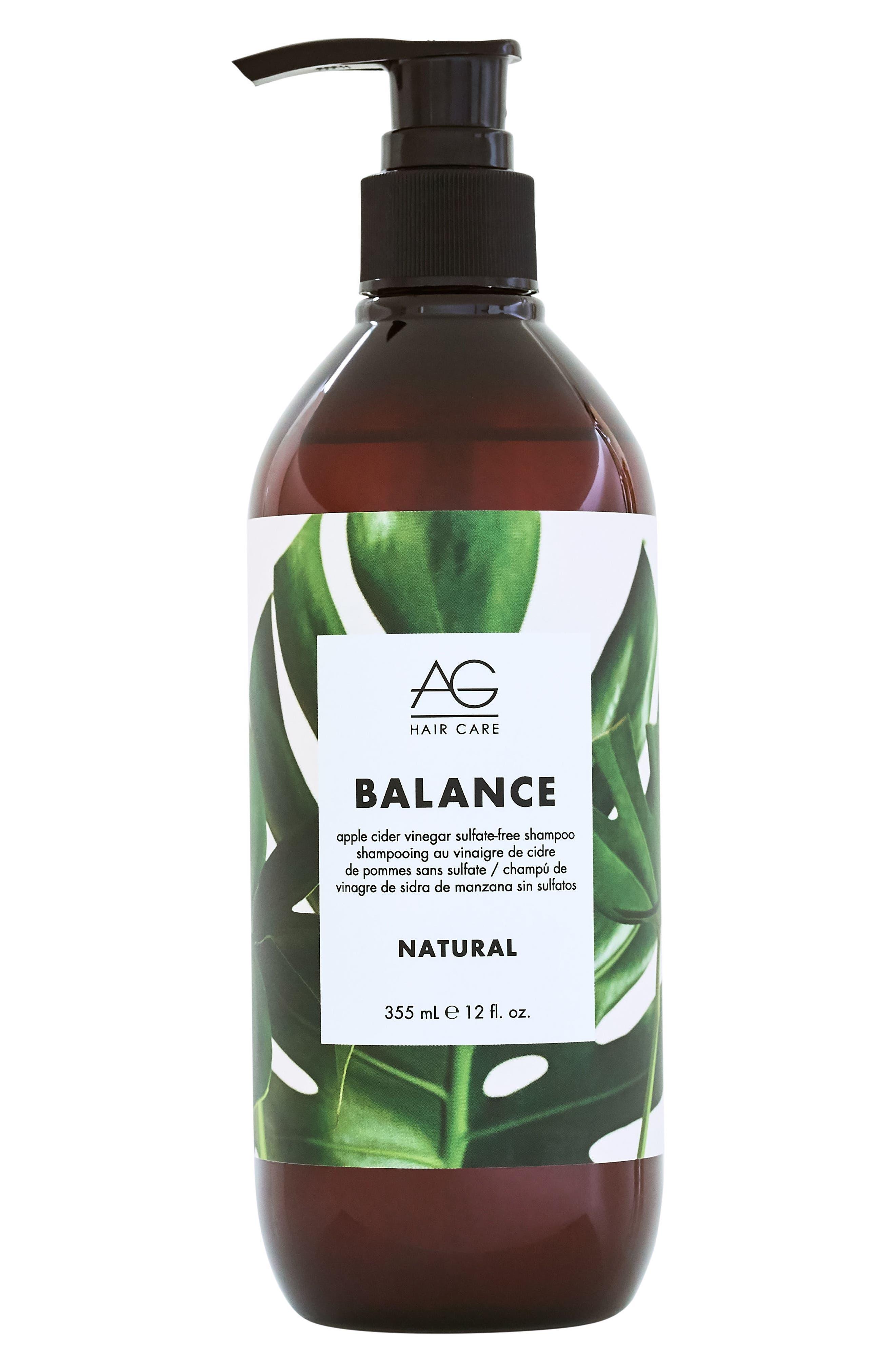 Balance Apple Cider Vinegar Sulfate Free Shampoo,                             Main thumbnail 1, color,                             NO COLOR