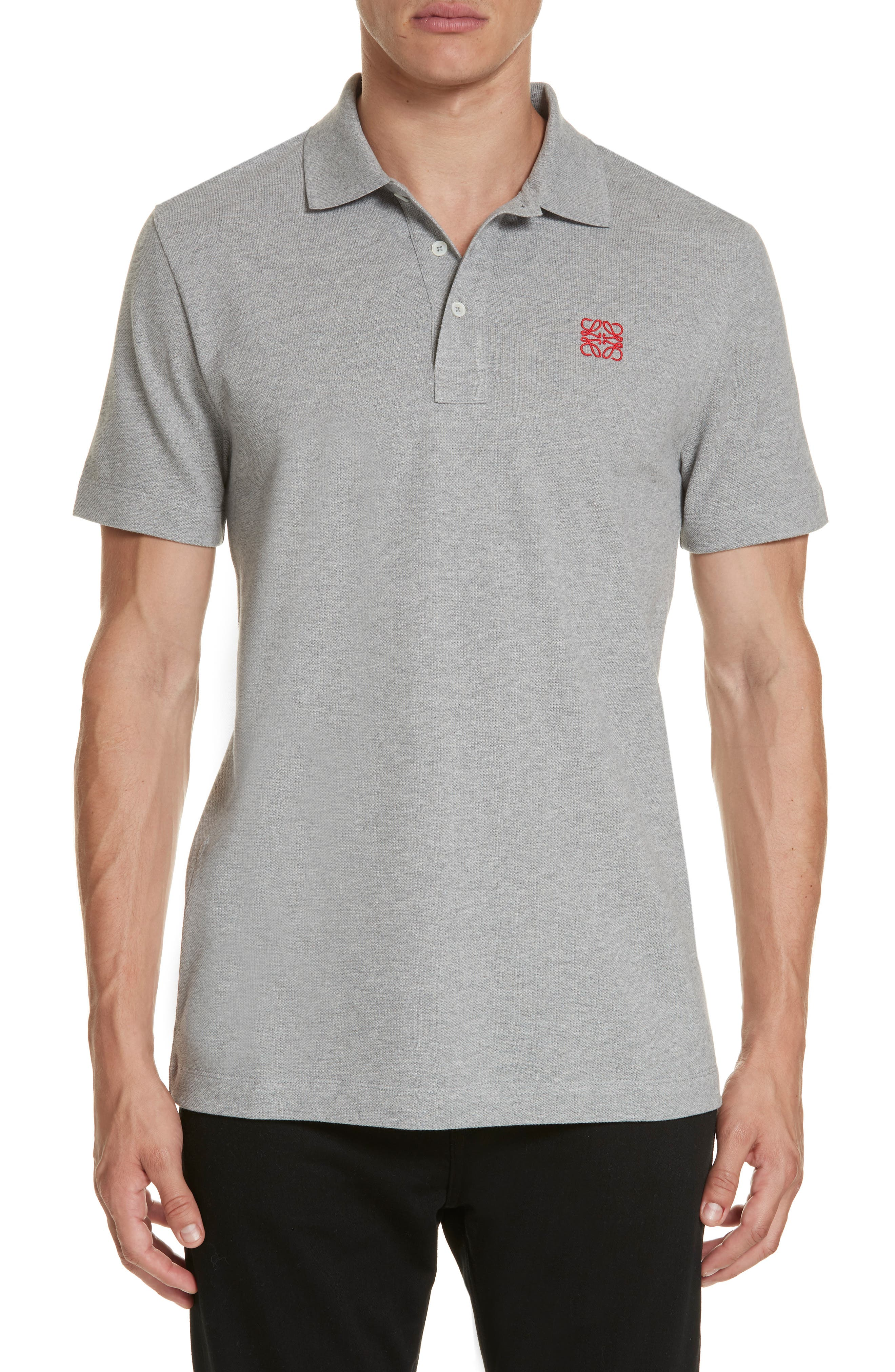 Anagram Polo,                             Main thumbnail 1, color,                             TRUE GREY