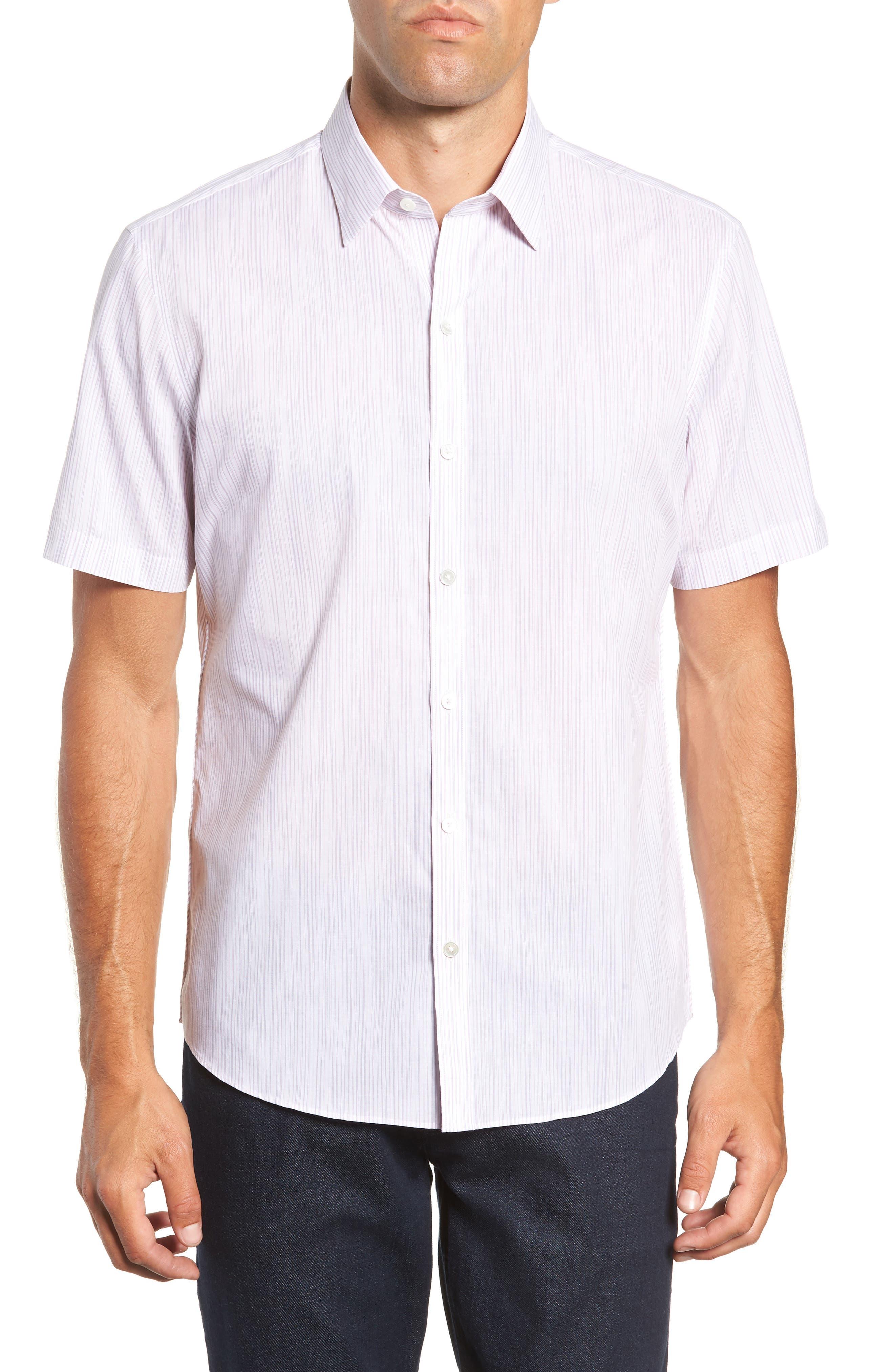 Bella Regular Fit Sport Shirt,                             Main thumbnail 1, color,                             LIGHT PINK
