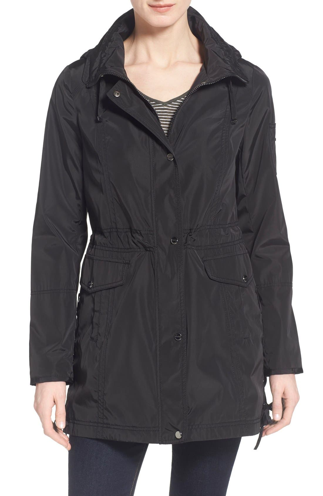 Windbreaker with Lace-Up Sides,                             Main thumbnail 1, color,                             001