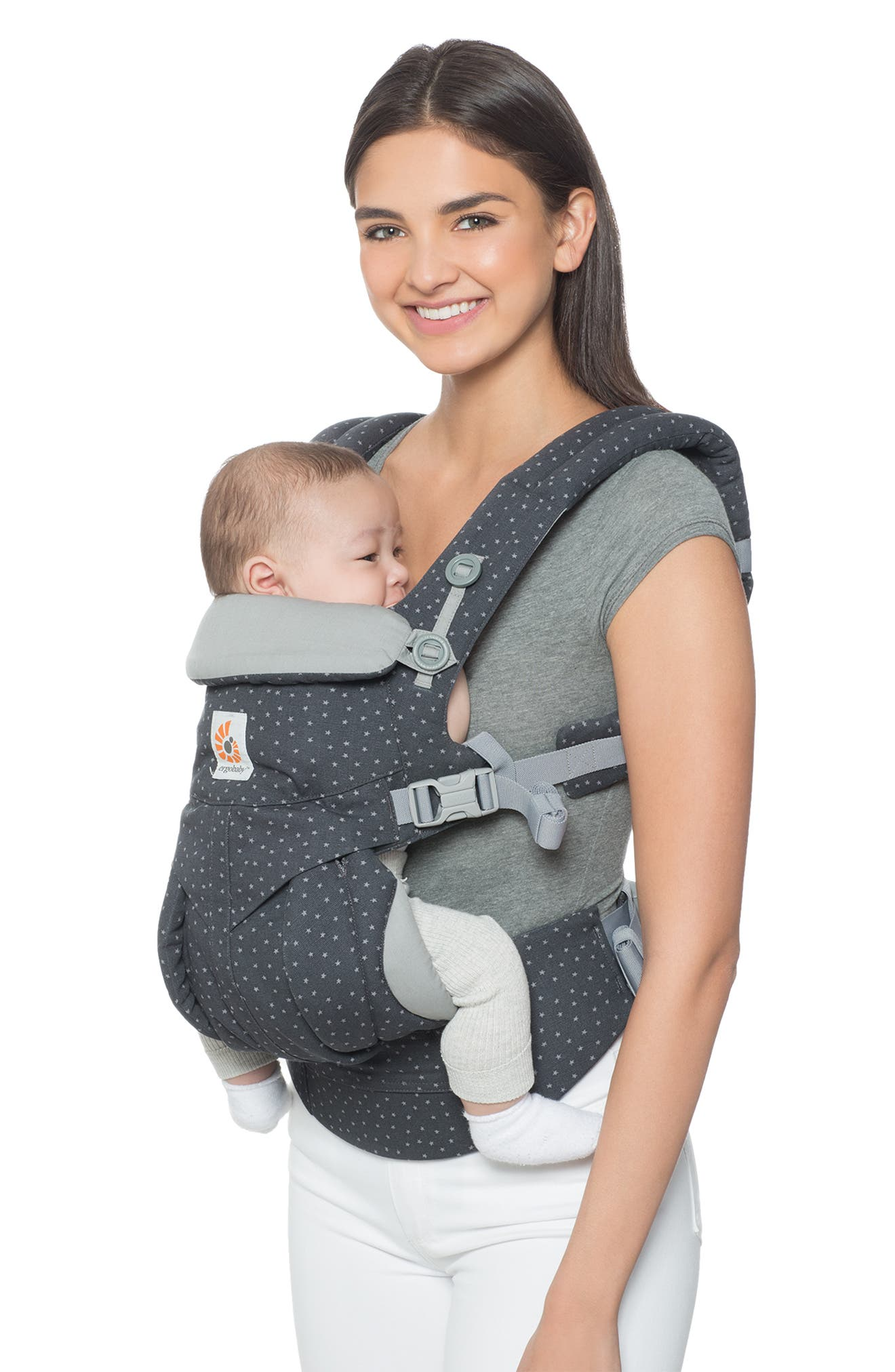 Omni 360 Baby Carrier,                             Alternate thumbnail 3, color,                             GREY WITH STARS