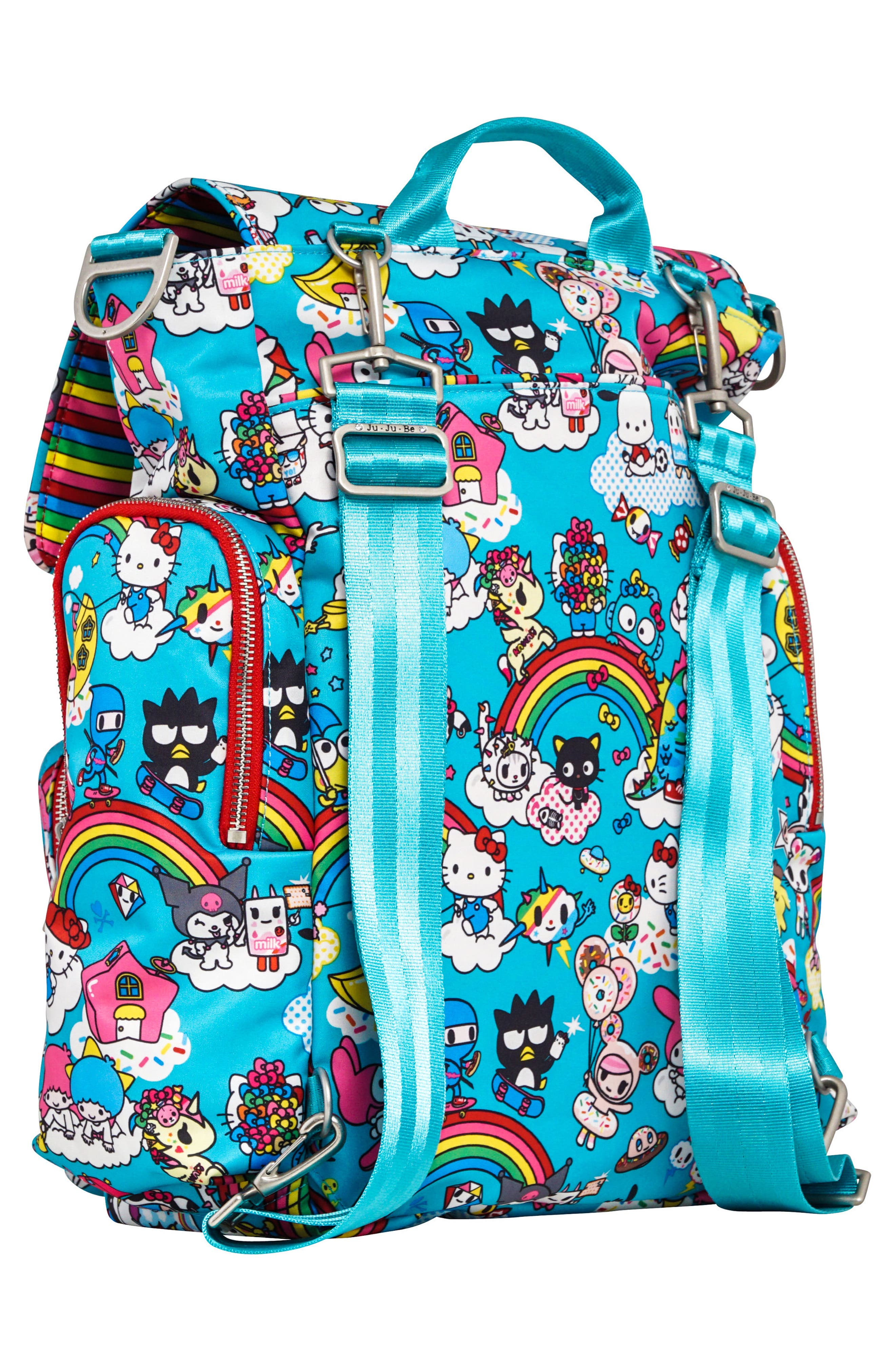 x tokidoki for Hello Sanrio Rainbow Dreams Sporty Diaper Backpack,                             Alternate thumbnail 2, color,                             433