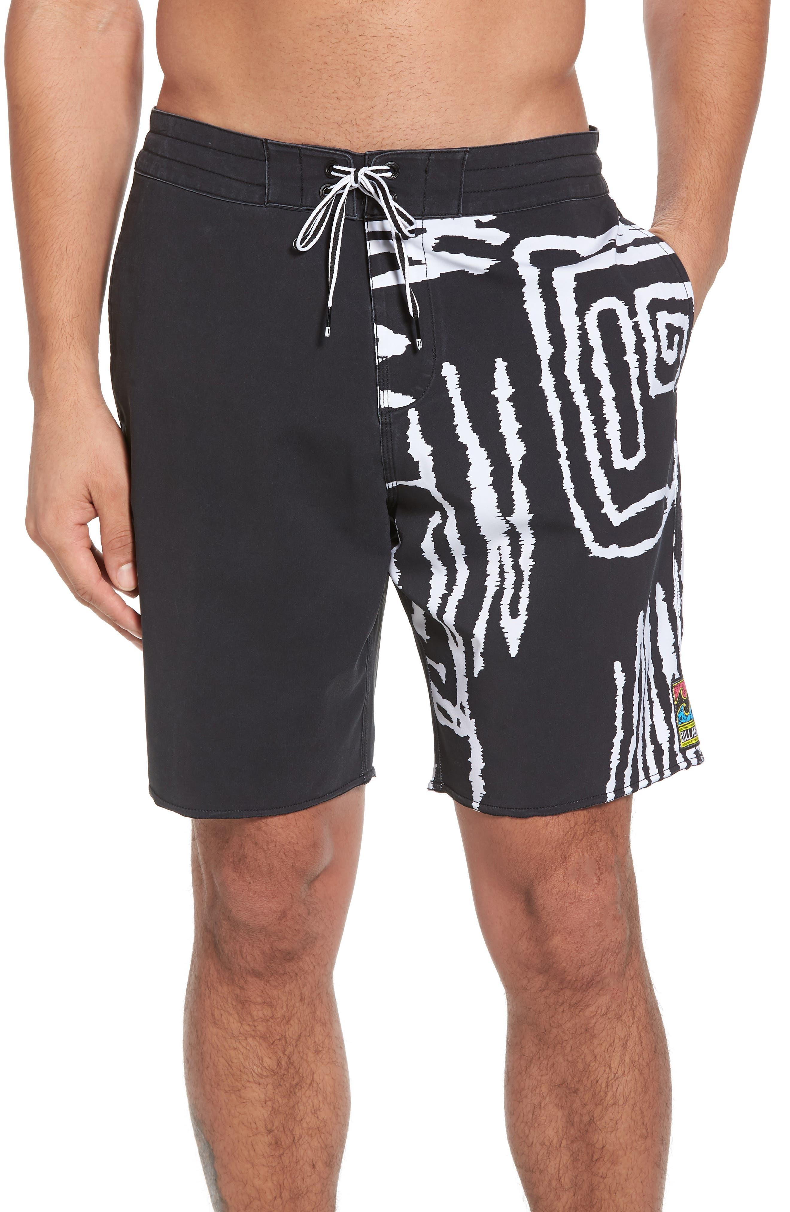 Sundays Lo Tides Board Shorts,                         Main,                         color, WHITE