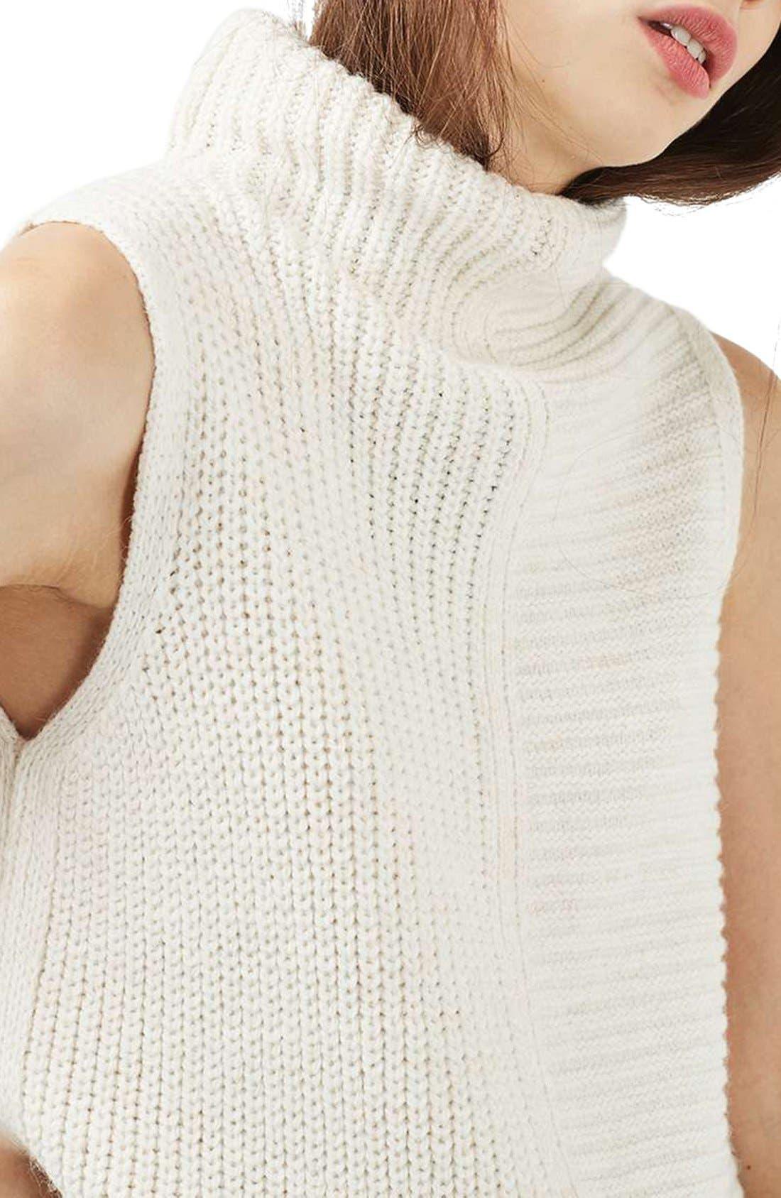 Sleeveless Turtleneck Sweater,                             Alternate thumbnail 6, color,                             900