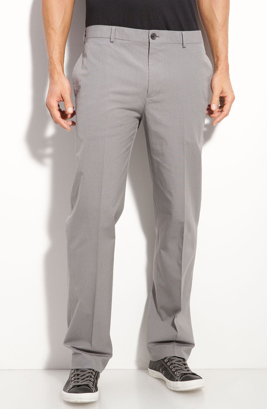 WALLIN & BROS.,                             Flat Front Stripe Pants,                             Main thumbnail 1, color,                             020