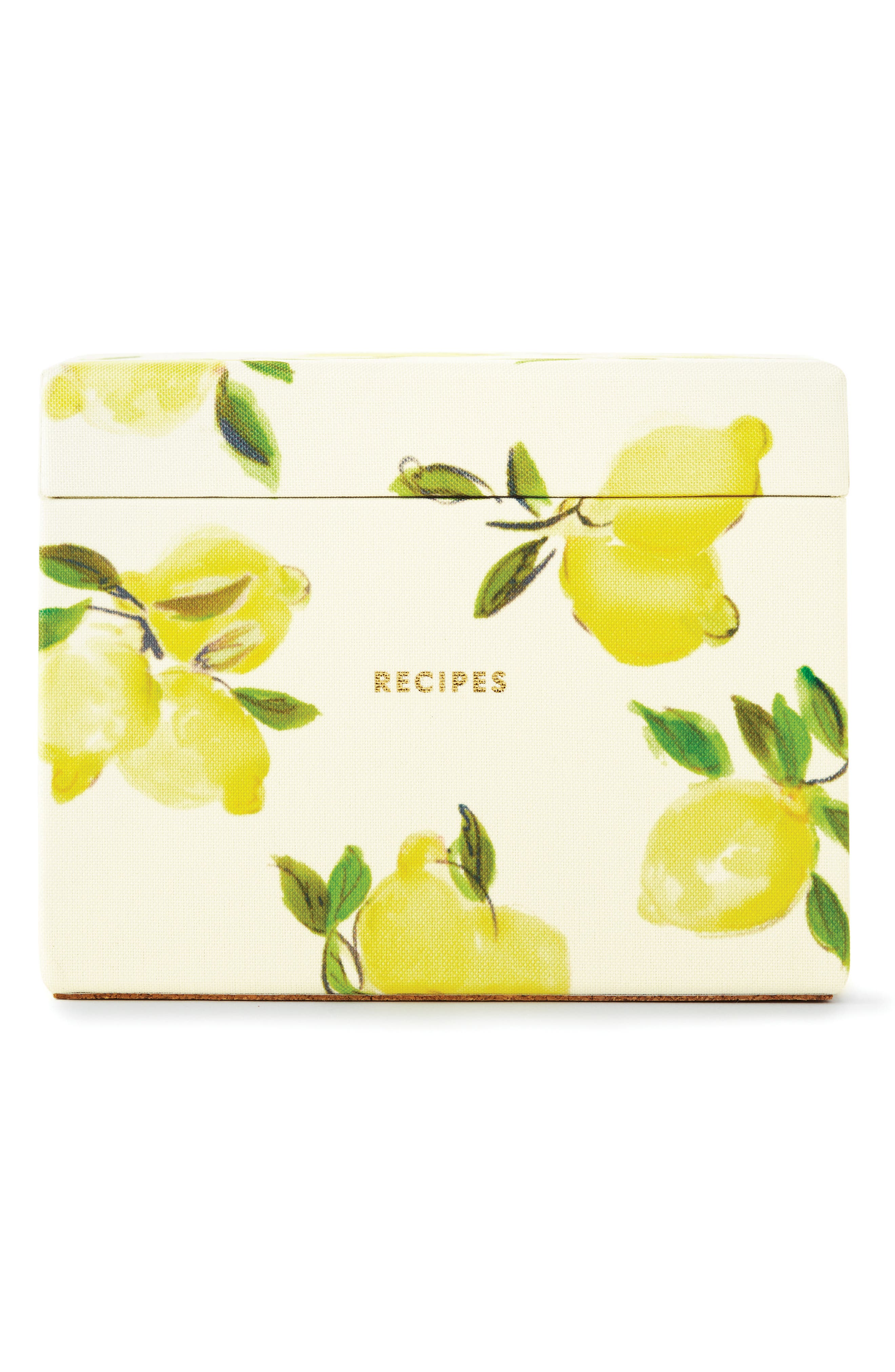 lemon recipe box & cards set,                         Main,                         color, 730