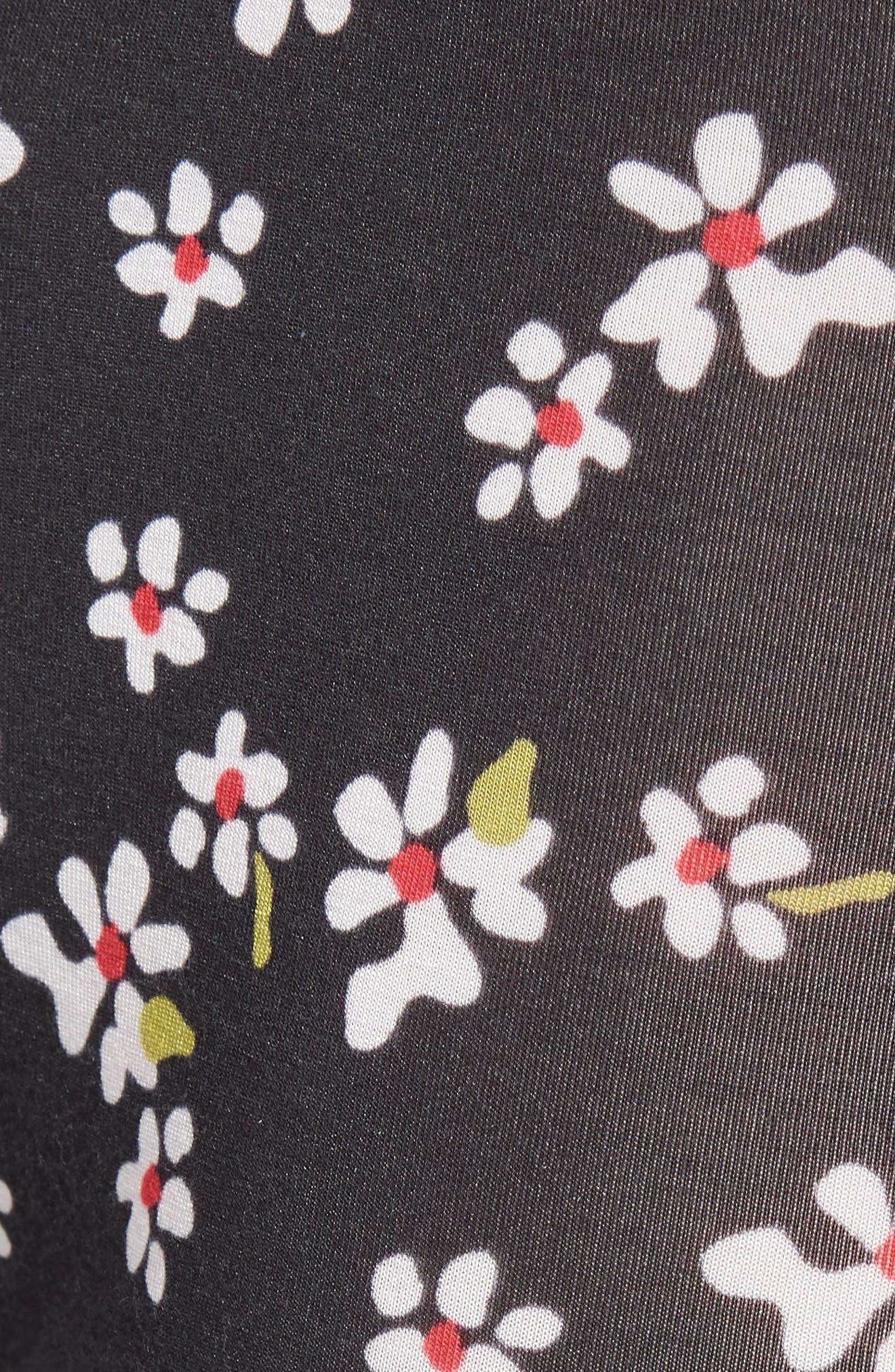 Light Flowers Boxer Briefs,                             Alternate thumbnail 5, color,                             BLACK